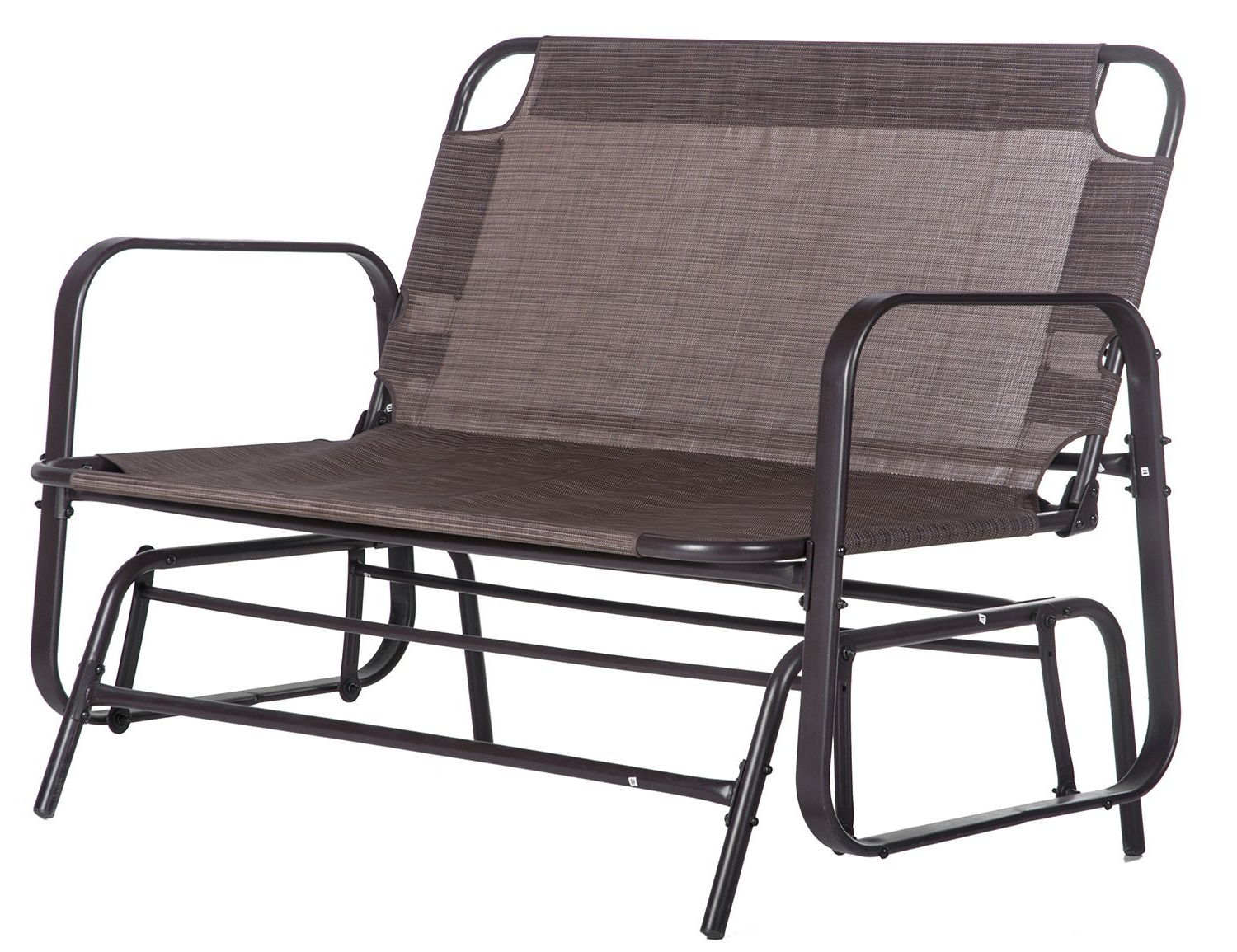Buy Merax Patio Loveseat Glider Rocking Chair Garden Outdoor Pertaining To Most Current Outdoor Loveseat Gliders With Cushion (View 24 of 25)