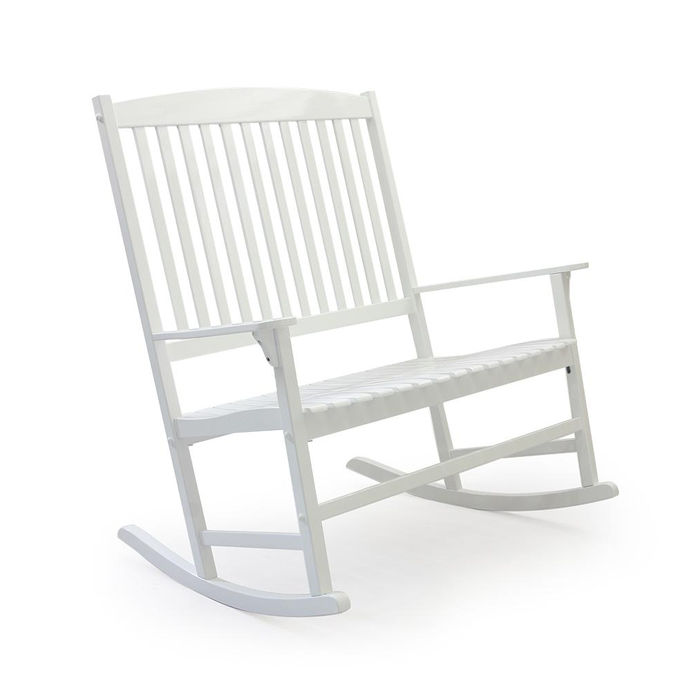 Cambridge Casual Thames White Wood Outdoor Rocking Chair Intended For Recent Casual Thames White Wood Porch Swings (View 8 of 25)