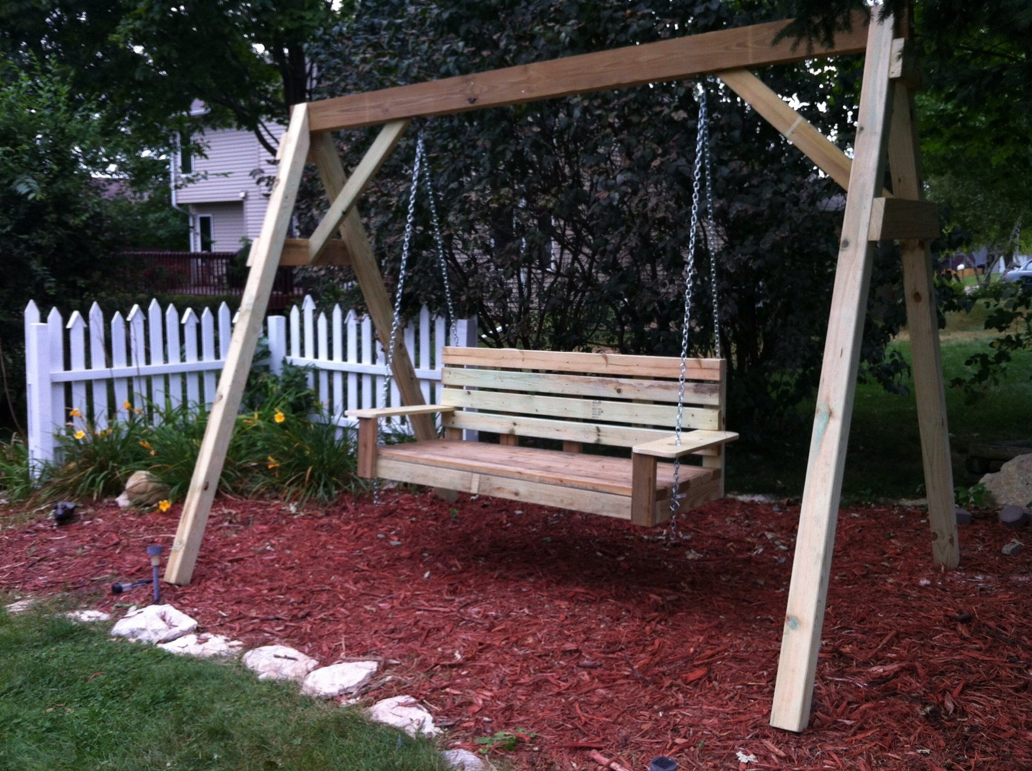 Canopy Patio Porch Swing With Stand Within 2020 39+ Elegant Diy Outdoor Swings That No One Can Resist (photo (View 15 of 25)