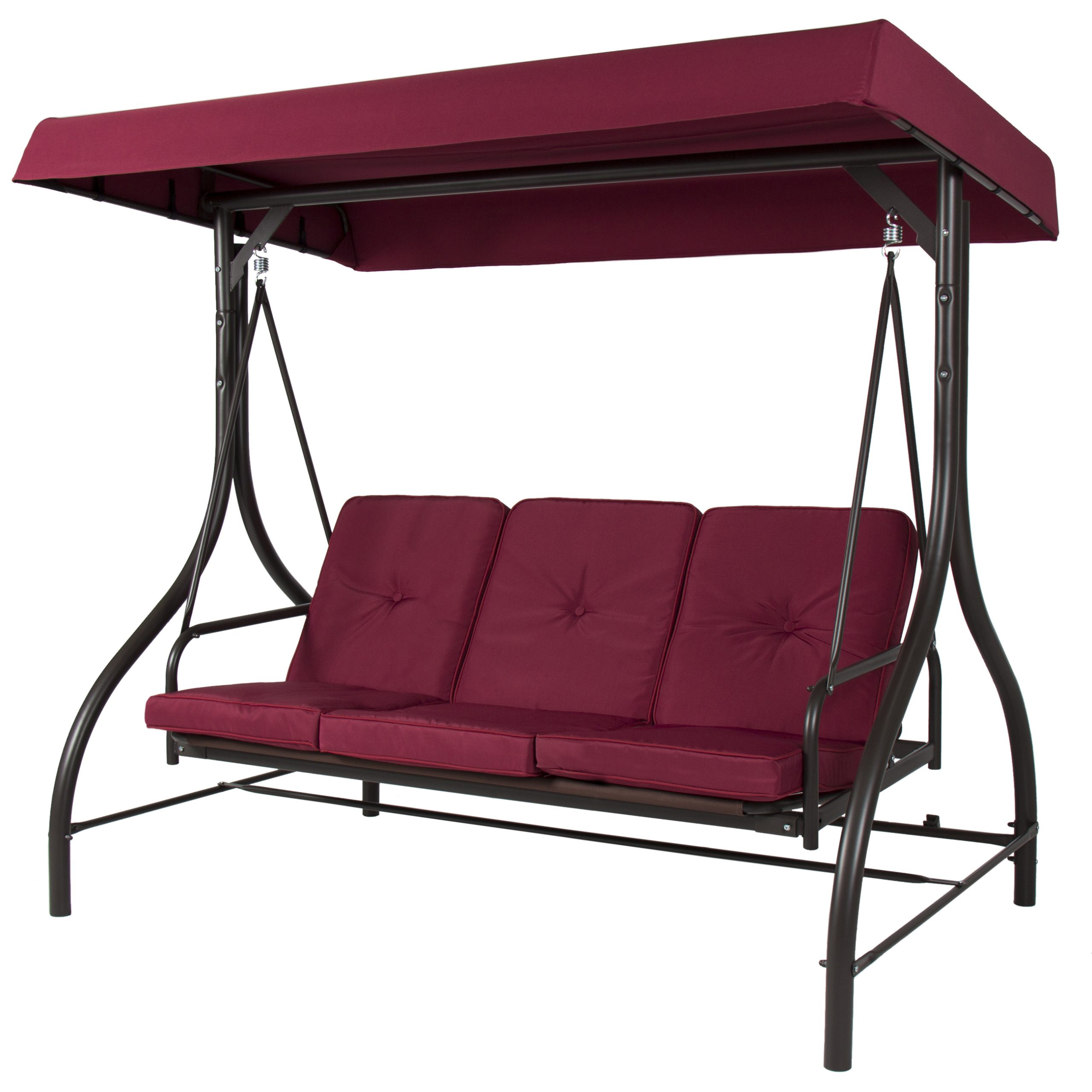 Canopy Porch Swings Intended For Current Best Choice Products 3 Seat Patio Porch Swing – Walmart (View 4 of 25)