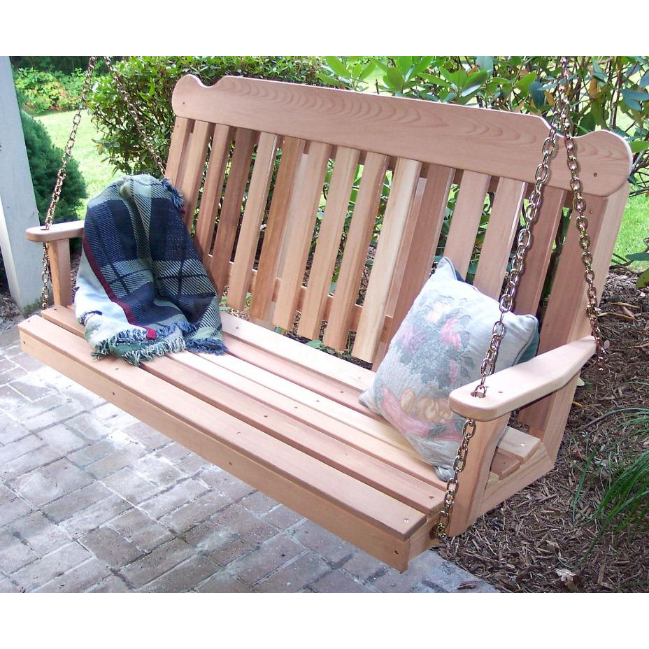 Cedar Classic Porch Swing Intended For Widely Used Classic Porch Swings (View 4 of 25)
