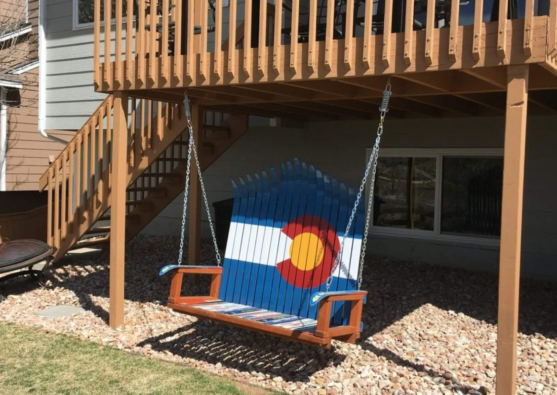 Colorado Flag Ski Porch Swings For Well Liked Porch Swings (View 17 of 26)