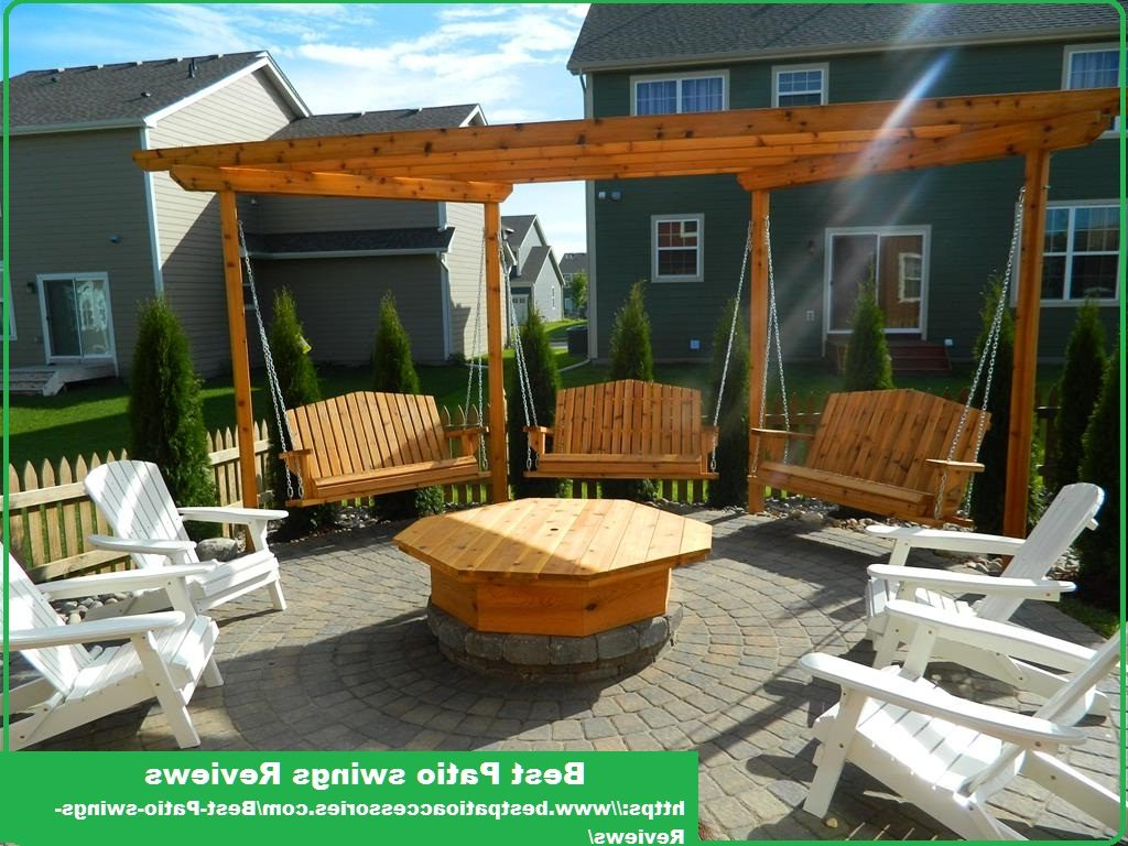 Comfortable And Luxurious Patio Regarding Most Current 2 Person Natural Cedar Wood Outdoor Swings (View 22 of 25)