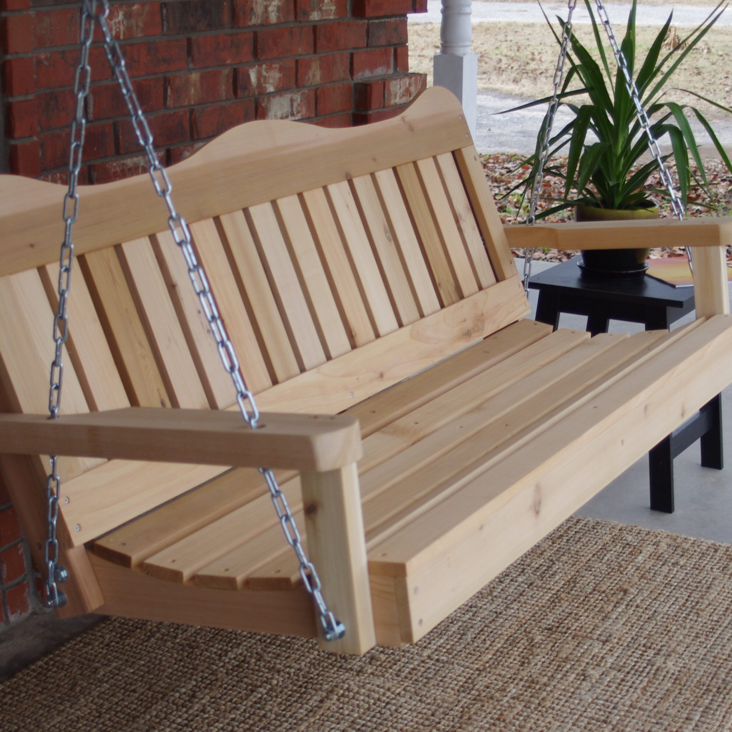 Contoured Classic Porch Swings In Popular Galvin Porch Swing (View 6 of 25)