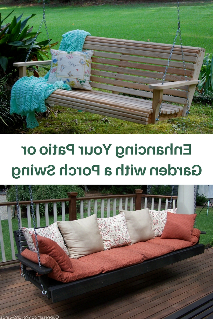 Contoured Classic Porch Swings Pertaining To Most Recently Released Enhancing Your Patio Or Garden With A Porch Swing (View 8 of 25)