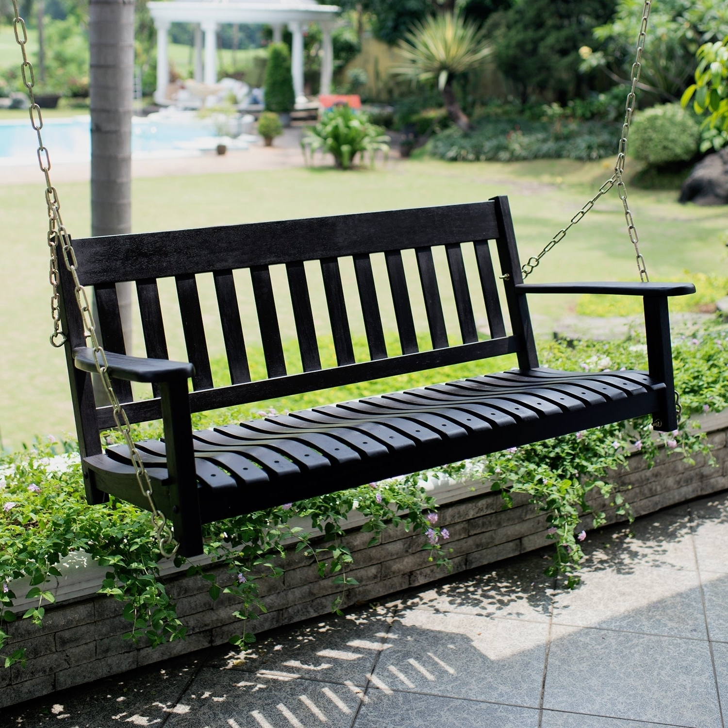 Contoured Classic Porch Swings With Favorite Cambridge Casual Alston Porch Swing (View 9 of 25)