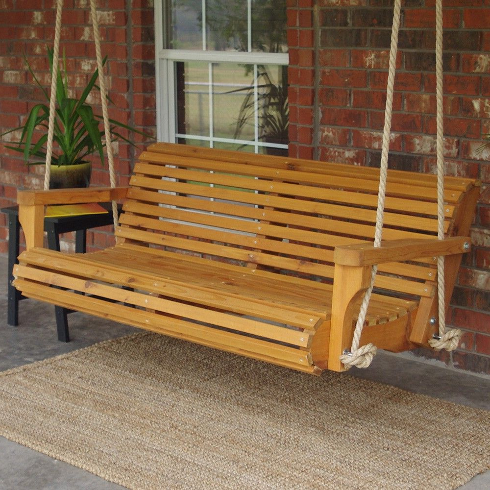 Contoured Classic Porch Swings Within 2020 Tmp Outdoor Furniture Contoured Classic Red Cedar Porch (View 10 of 25)