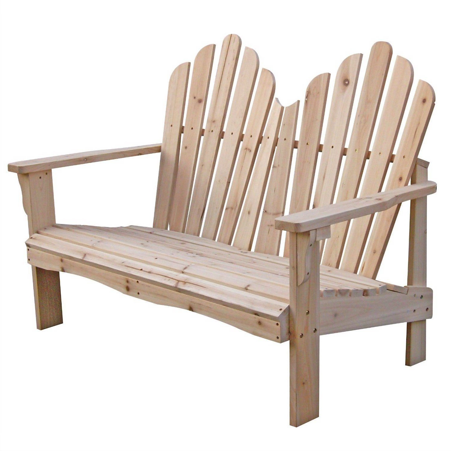 Current 2 Person Natural Cedar Wood Outdoor Gliders Intended For Cedar Wood Outdoor Patio 2 Seat Adirondack Chair Style (View 10 of 25)