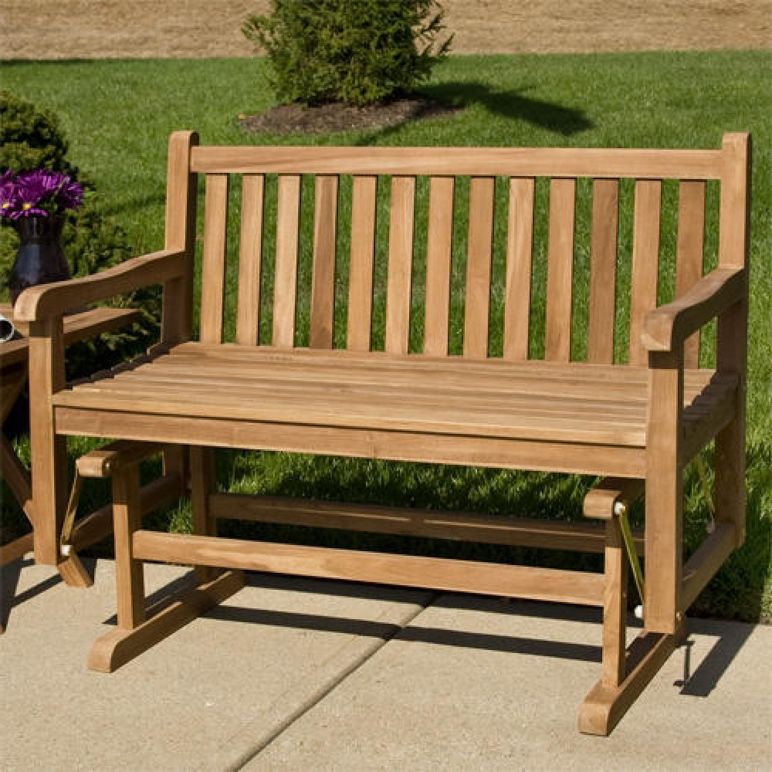 Current Teak Outdoor Glider Benches Throughout Build Outdoor Glider Bench : Outdoor Decorations – What Is (View 8 of 25)