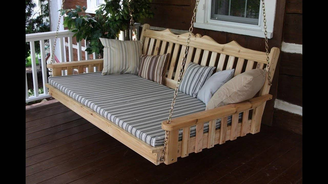 Day Bed Porch Swings Regarding Well Known Awesome Bedrooms Swinging Porch Swing Designs Hanging Large (View 22 of 25)