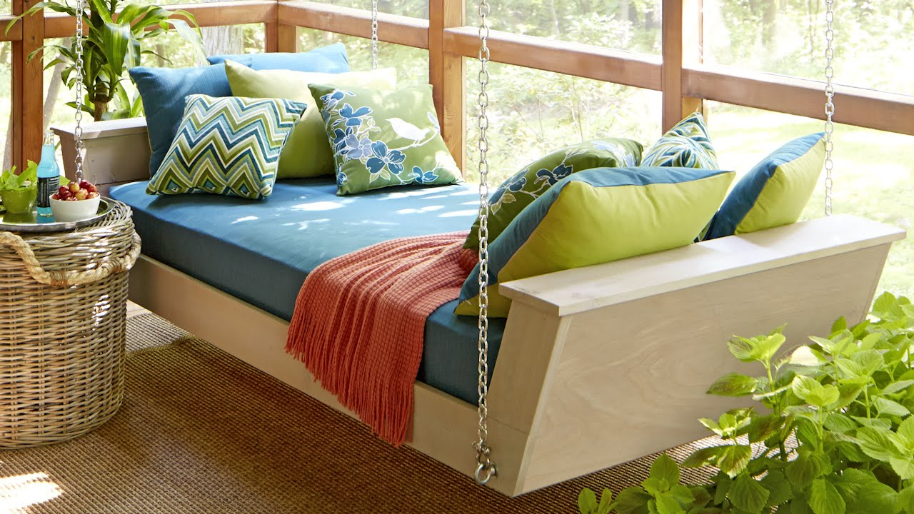 Day Bed Porch Swings Throughout Current Brilliant Hanging Bed Swing Daybed Plan You Tube Diy With (Gallery 23 of 25)