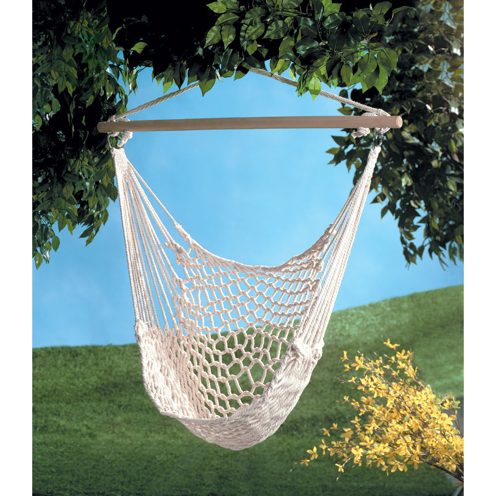 Details About Cotton Rope Hammock Hanging Chair Porch Swing Seat Patio Yard Camping Beige With Regard To Most Recently Released Cotton Porch Swings (View 3 of 25)