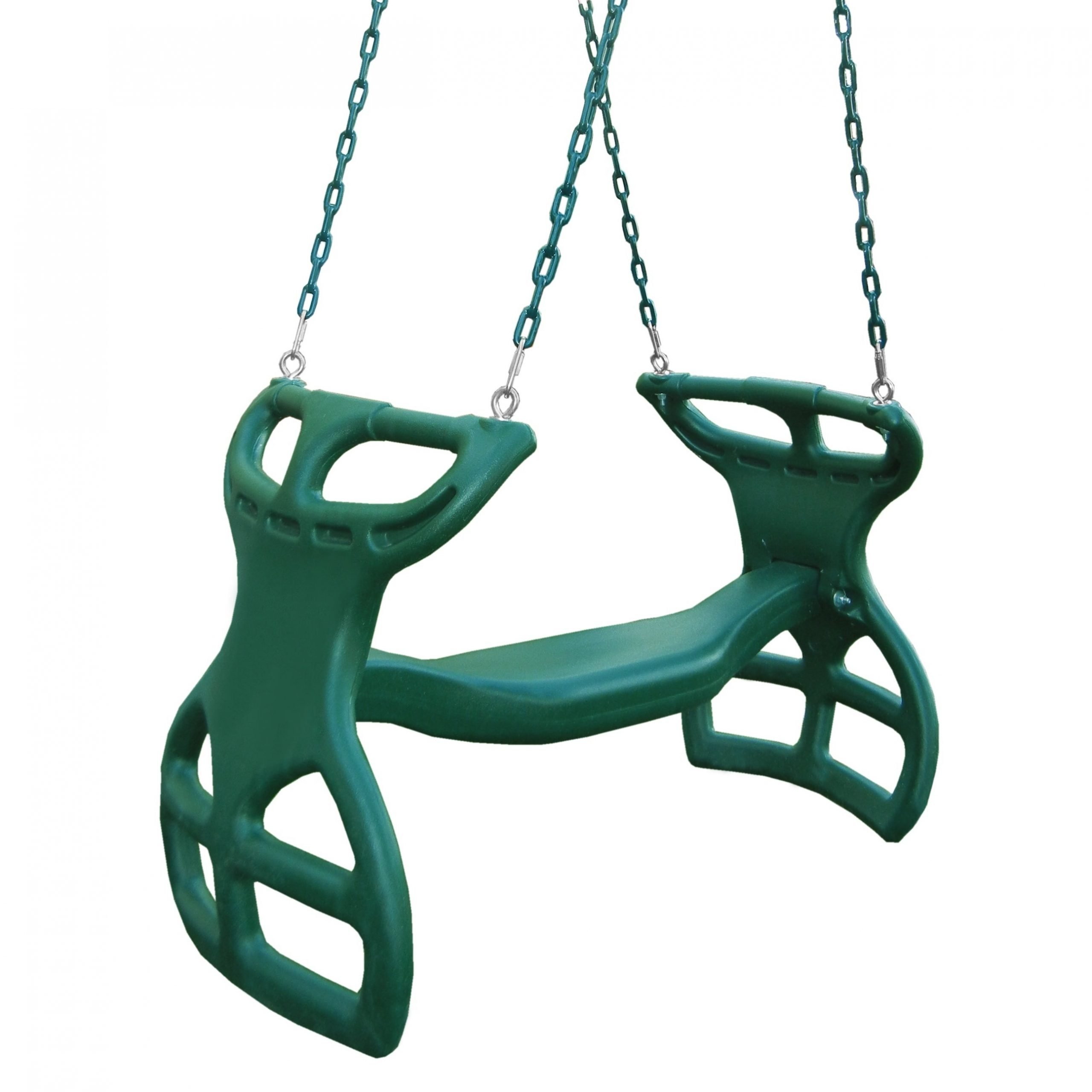 "Dual Rider Glider Swings With Soft Touch Rope Inside Famous Swing N Slide Dual Ride Glider With Chains – Green – 38"" L X 16"" W X 24"" H (View 3 of 25)"