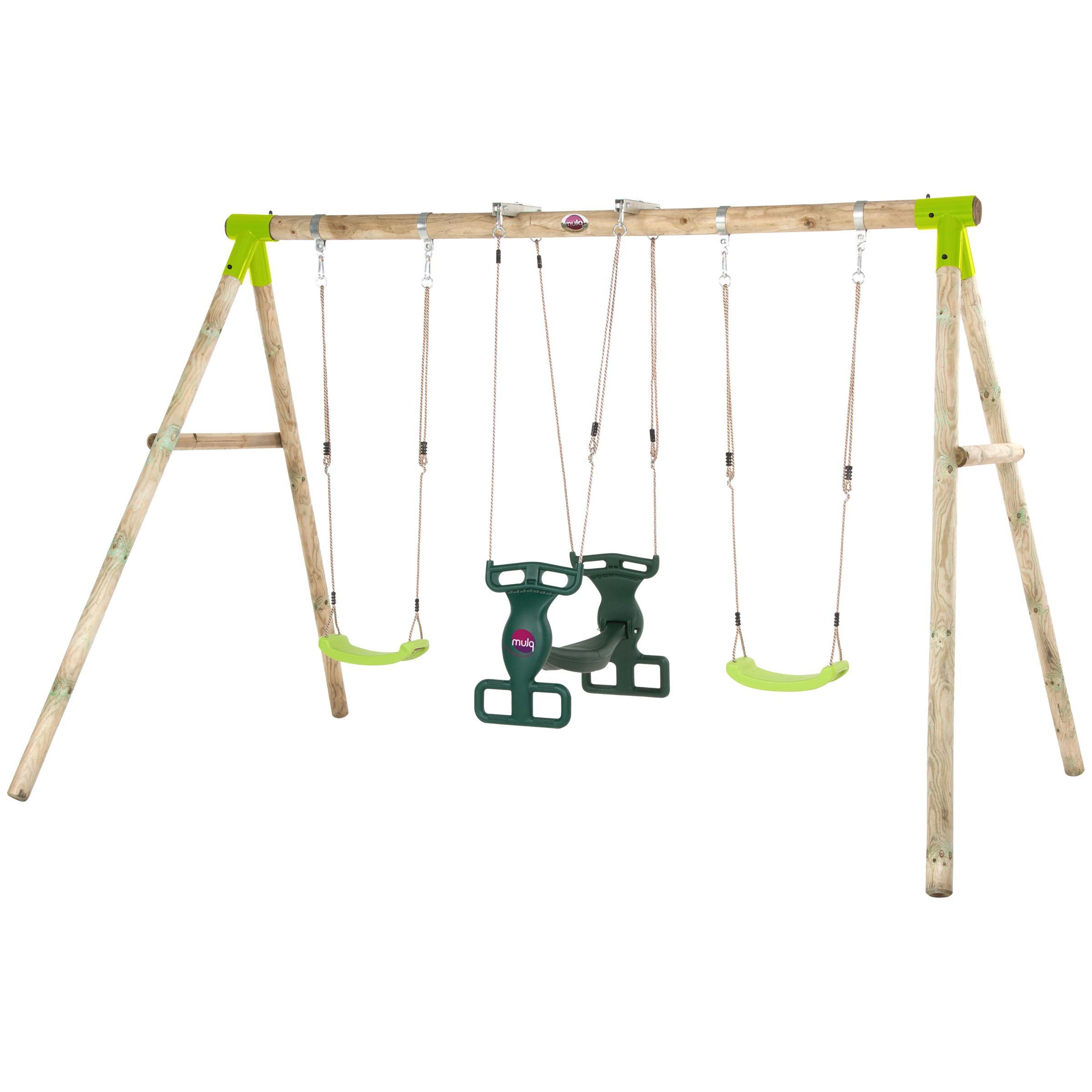 Dual Rider Glider Swings With Soft Touch Rope Throughout Popular Plum Vervet Wood Swing Set (View 7 of 25)
