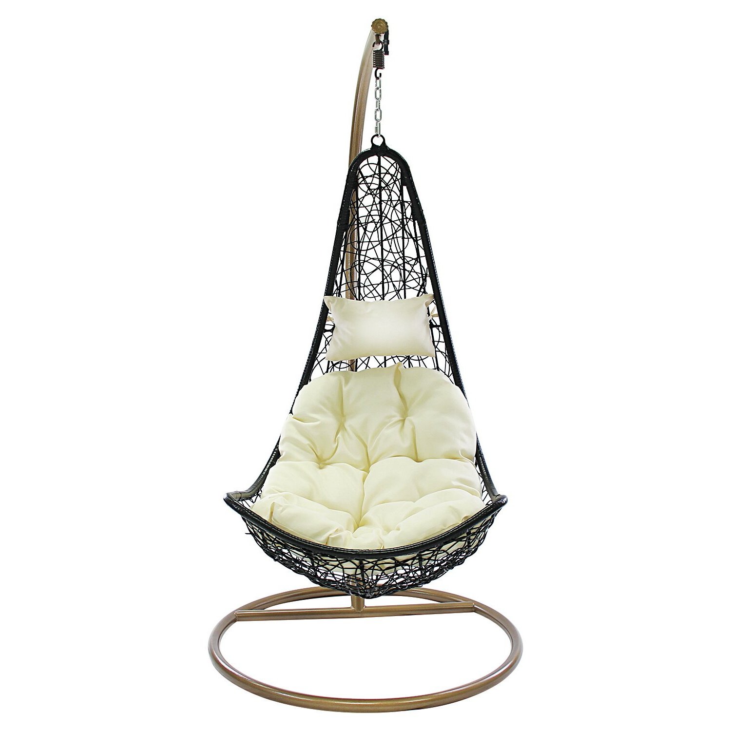 Featured Photo of Outdoor Wicker Plastic Half Moon Leaf Shape Porch Swings