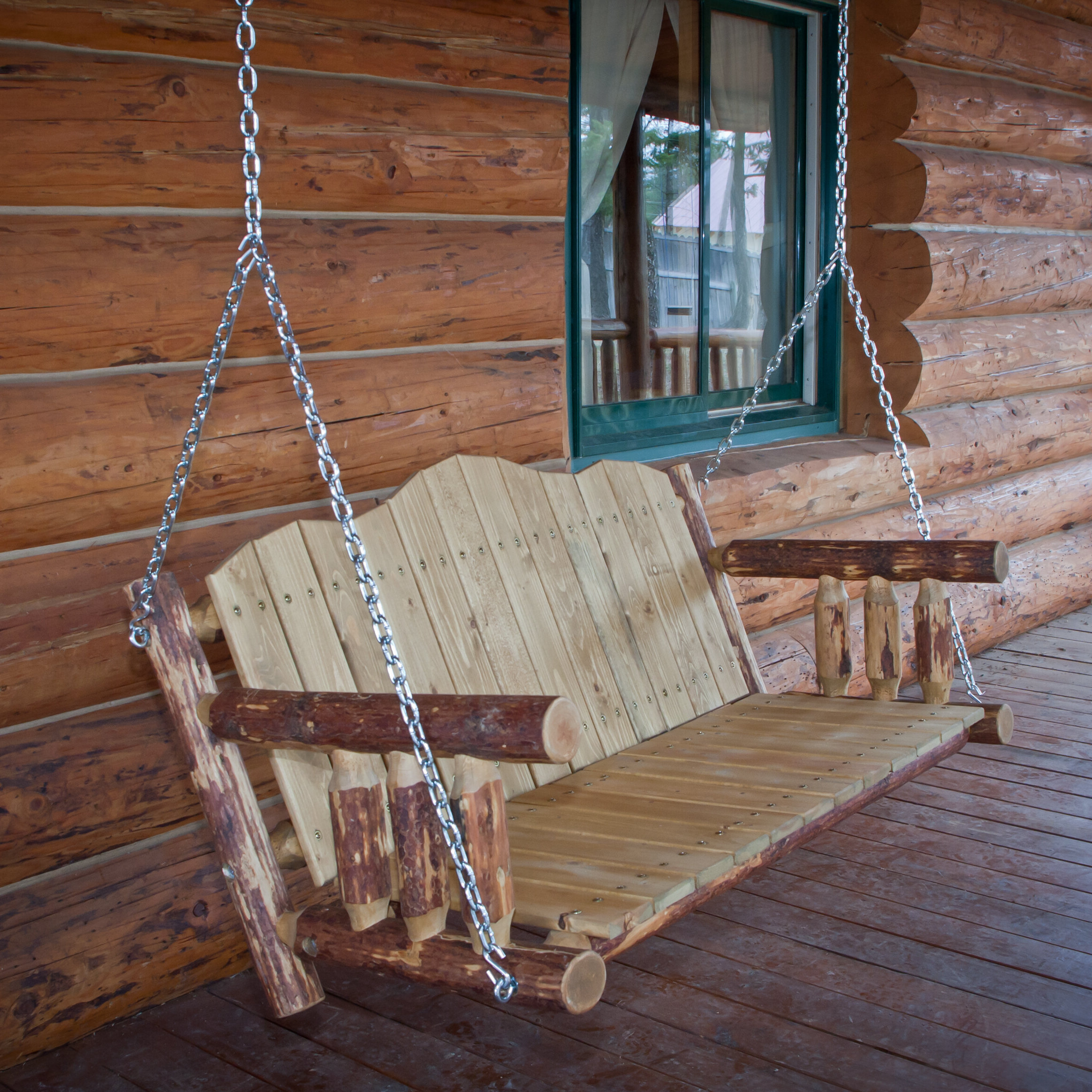 Famous Porch Swings With Chain With Regard To Tustin Porch Swing With Chains (View 18 of 26)