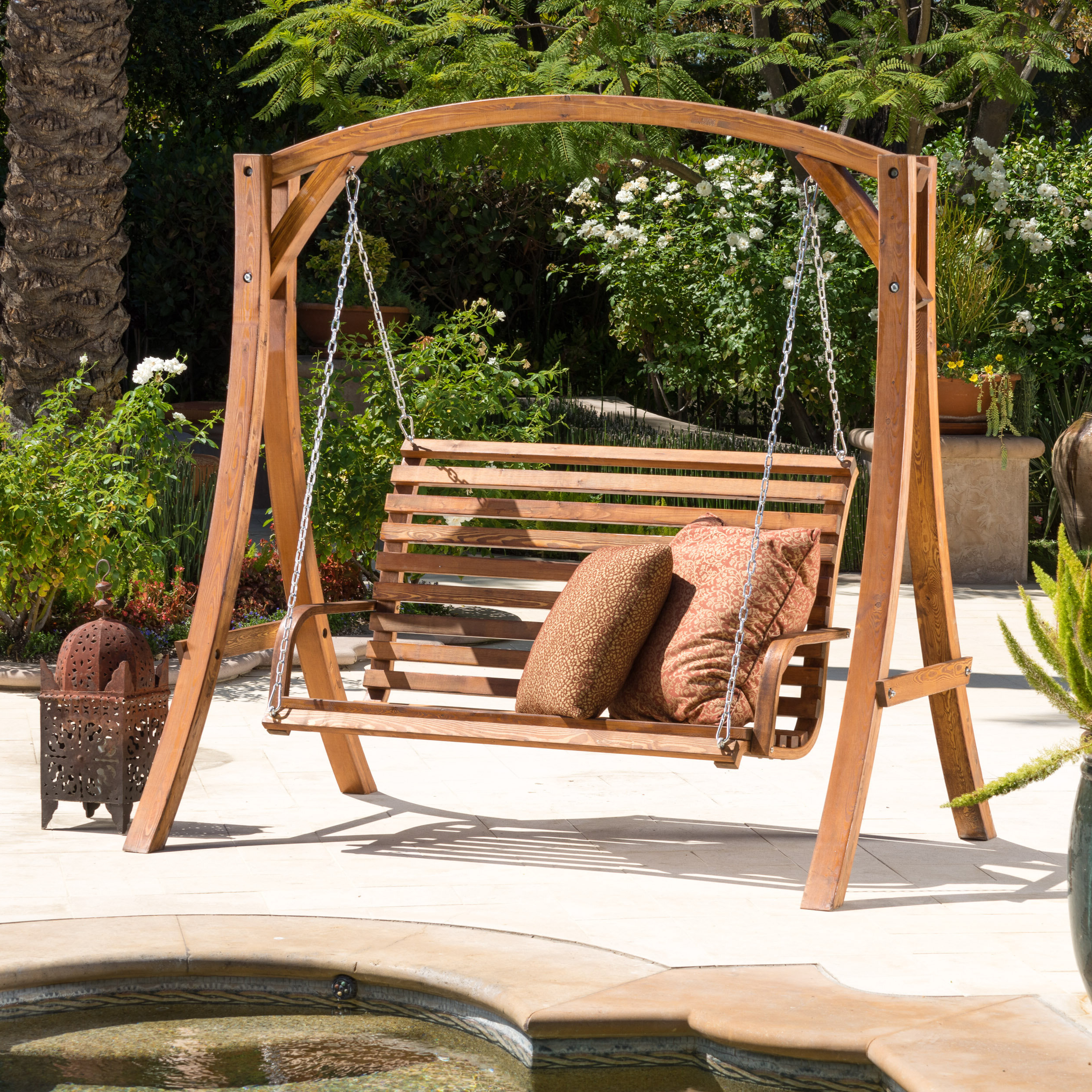 Famous Porch Swings With Stand Intended For Freeport Park Brandi Porch Swing With Stand & Reviews (View 3 of 25)