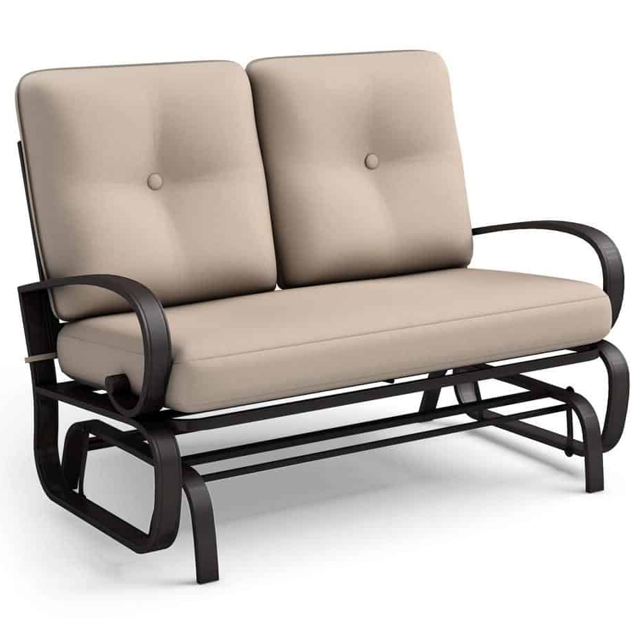 Famous The 10 Best Patio Gliders (2020) Within Steel Patio Swing Glider Benches (View 8 of 25)