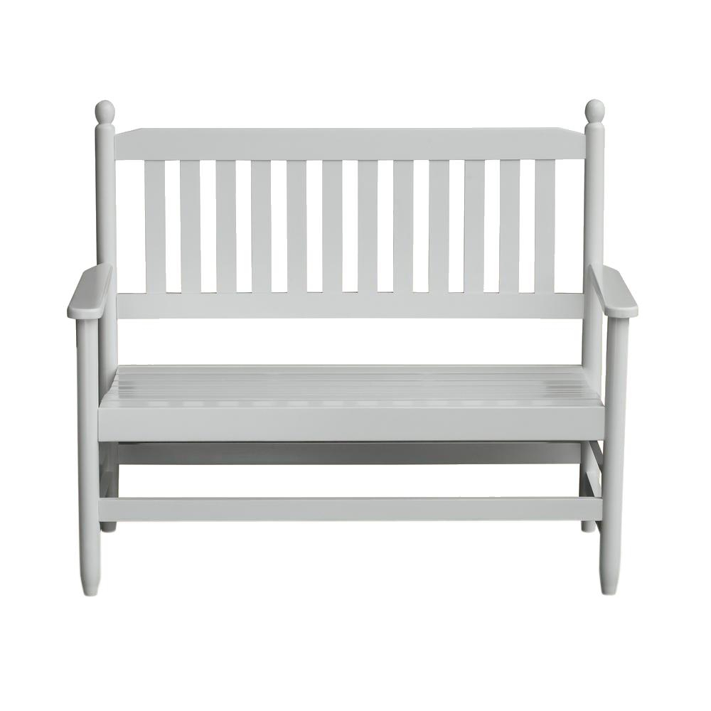 Fashionable Hinkle Chair Company 2 Person White Wood Outdoor Patio Bench In 2 Person Natural Cedar Wood Outdoor Gliders (View 11 of 25)
