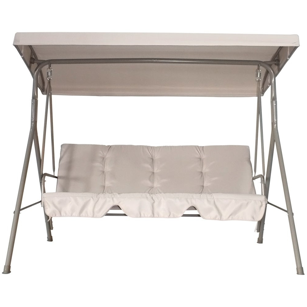 Favorite Havenside Home Santos 3 Seater Adjustable Canopy Outdoor Patio Swing Intended For Canopy Patio Porch Swings With Pillows And Cup Holders (View 21 of 25)