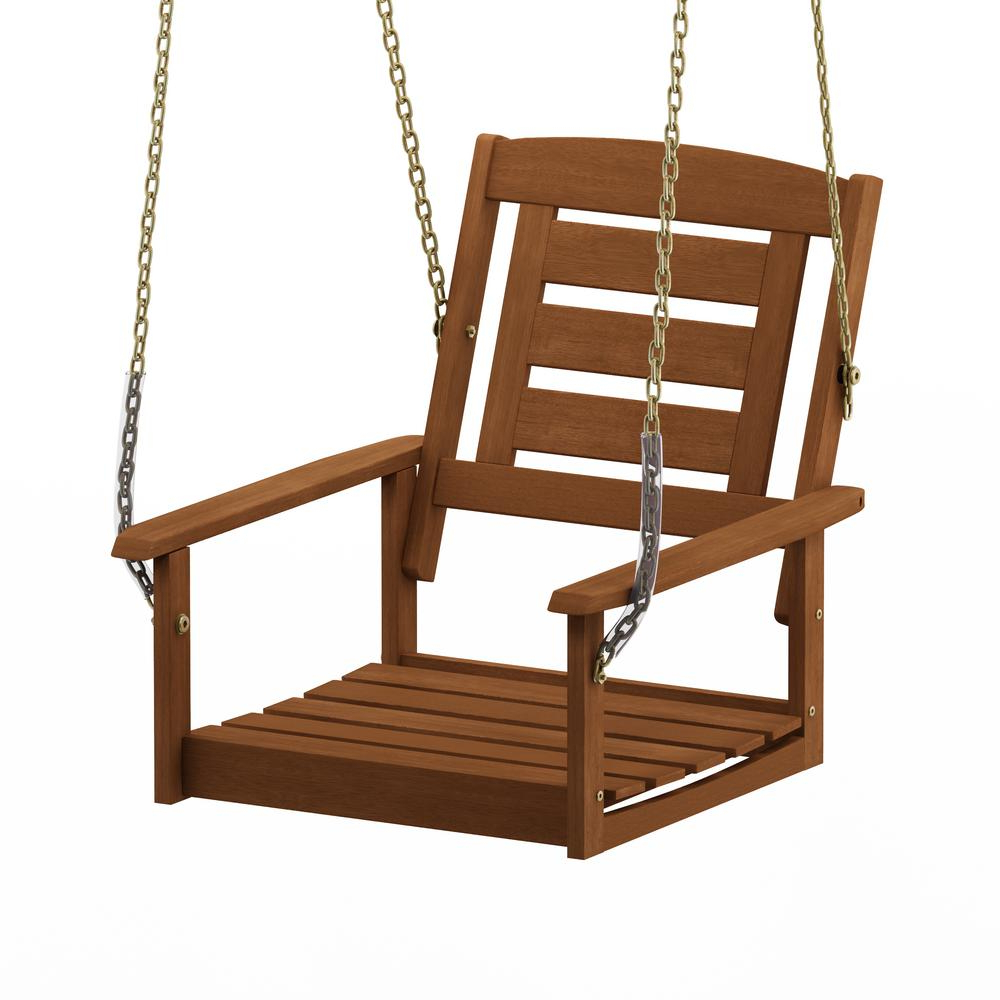 Furinno Tioman Single Hanging Hardwood Porch Swing With Chain Throughout Well Liked Porch Swings With Chain (View 8 of 26)