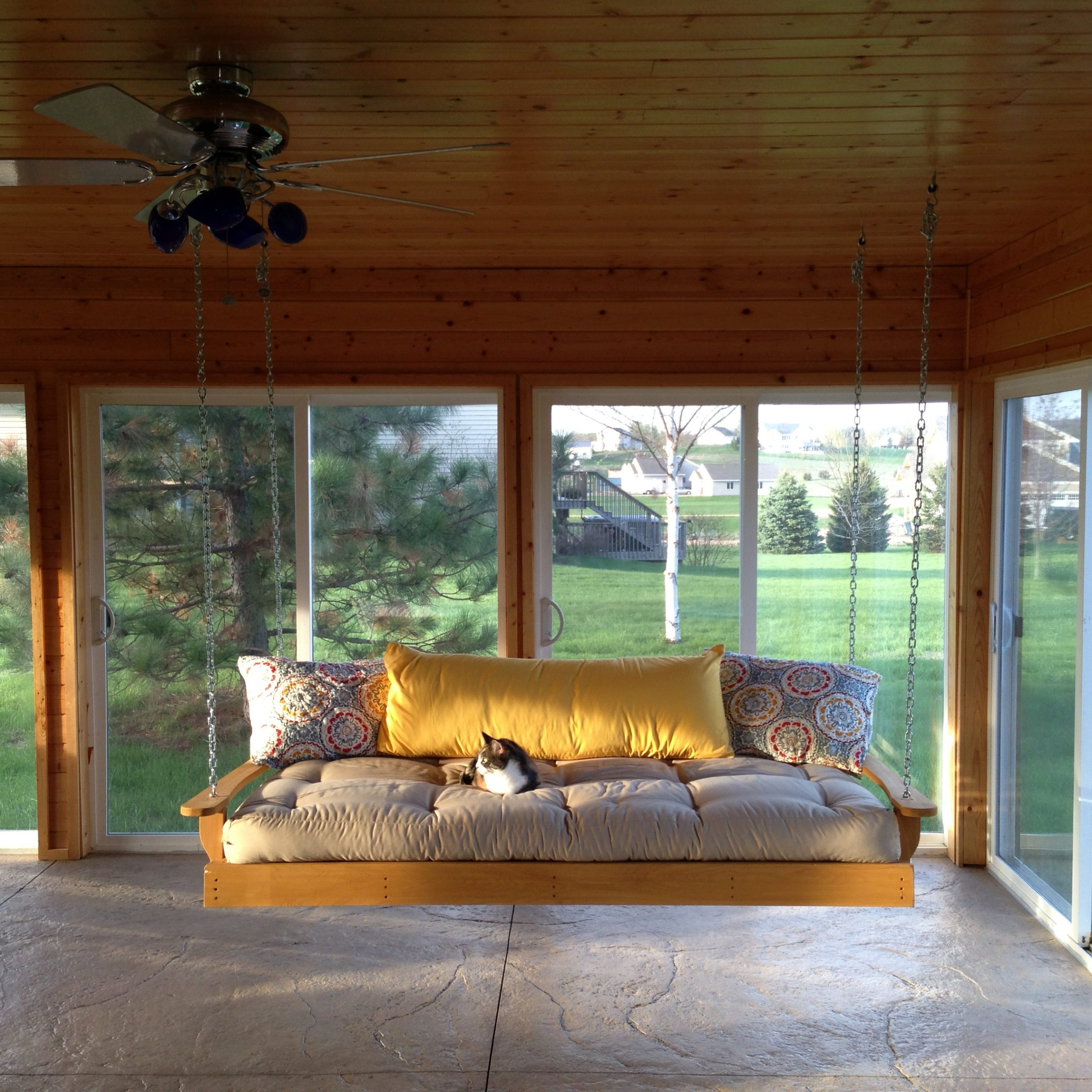 Furniture: Gorgeous Porch Swings For Terrace Ideas — Jones Regarding Latest Patio Hanging Porch Swings (View 25 of 25)