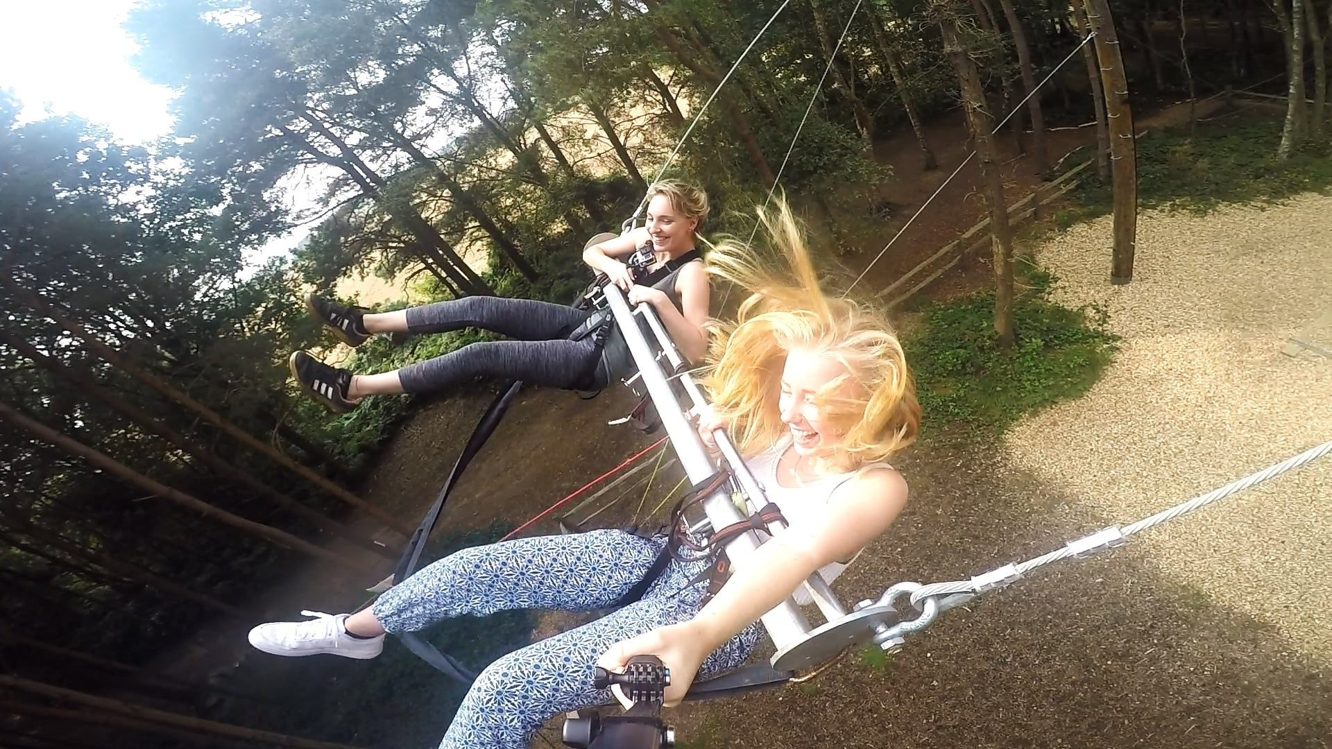 Giant Swing Experience – East Sussex For Best And Newest Dual Rider Glider Swings With Soft Touch Rope (View 11 of 25)
