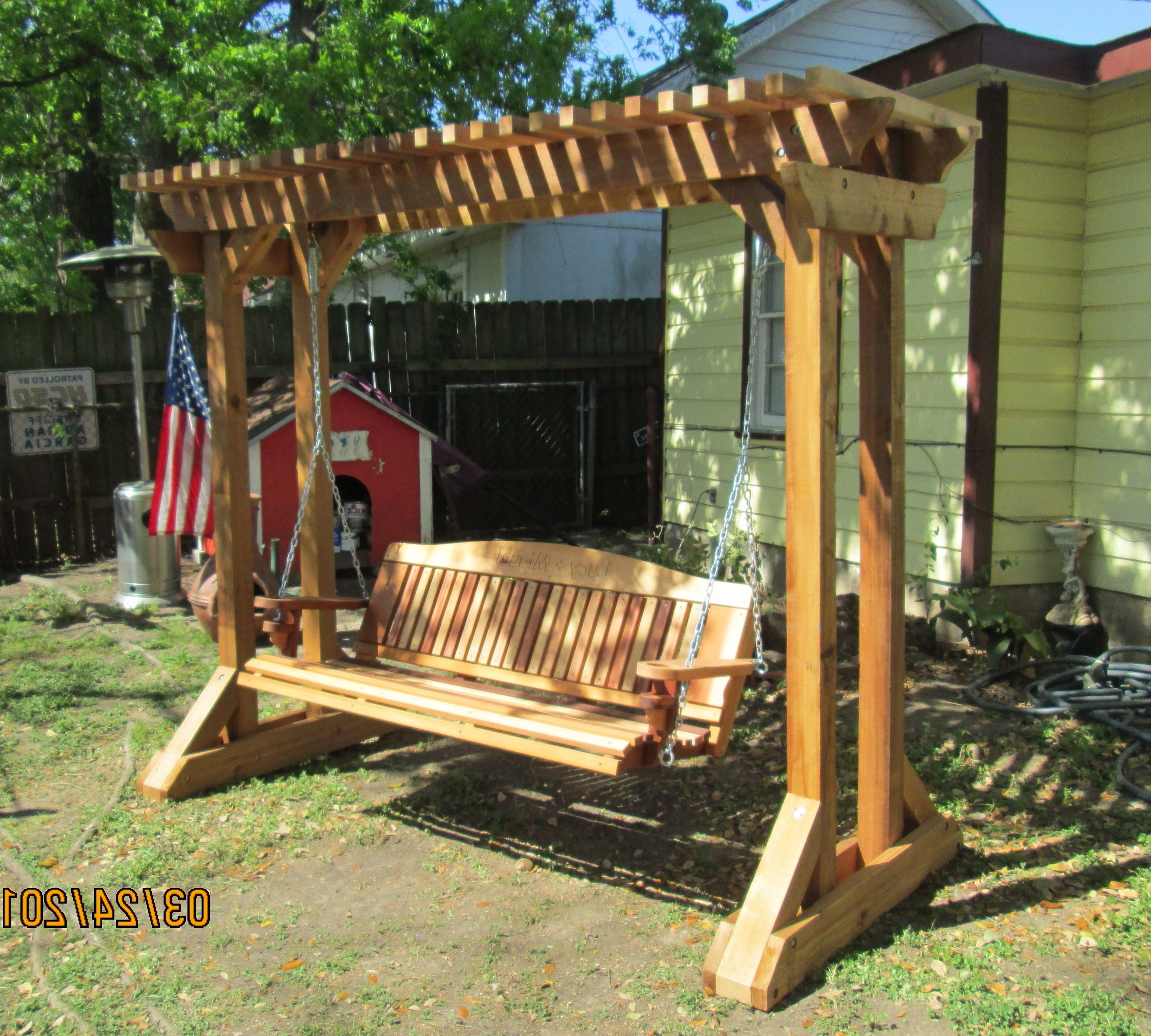 Hand Made Cedar Porch Swings (View 14 of 25)