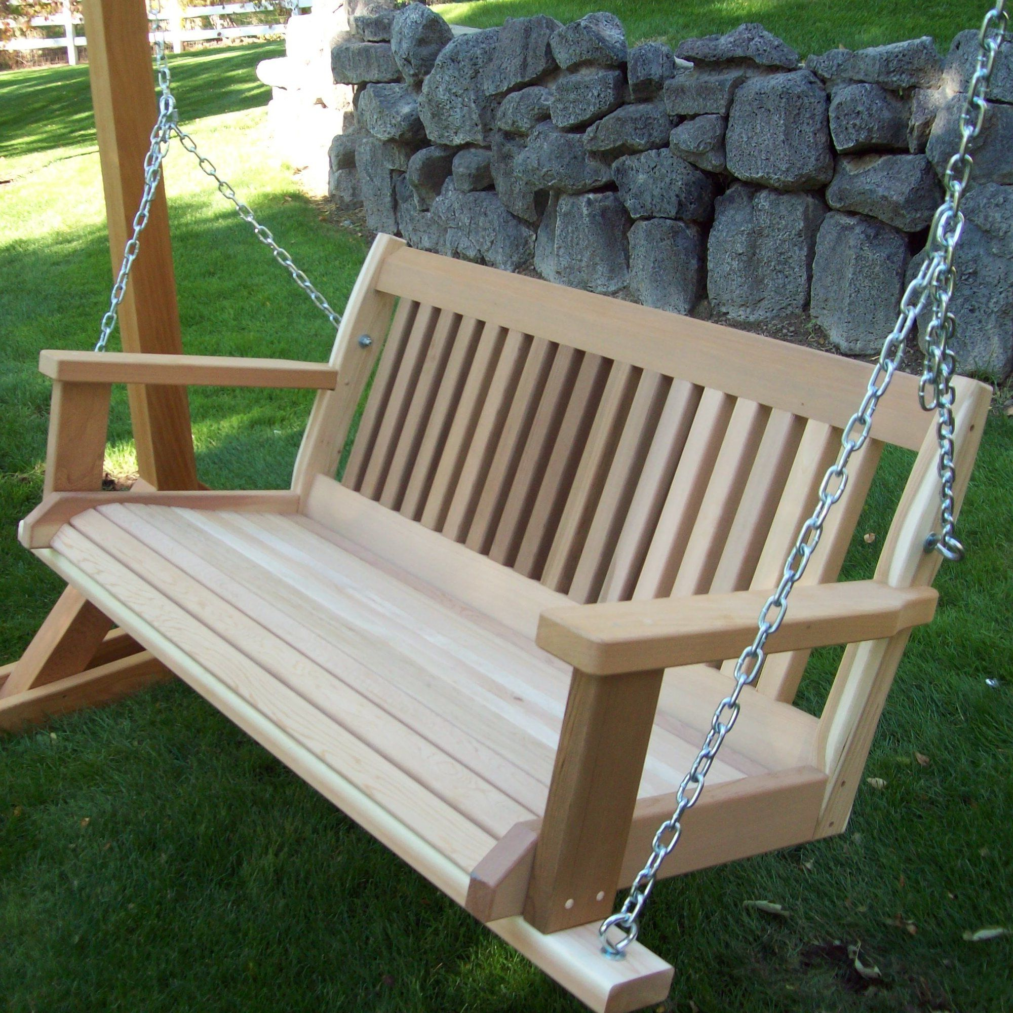 Featured Photo of Hardwood Hanging Porch Swings with Stand