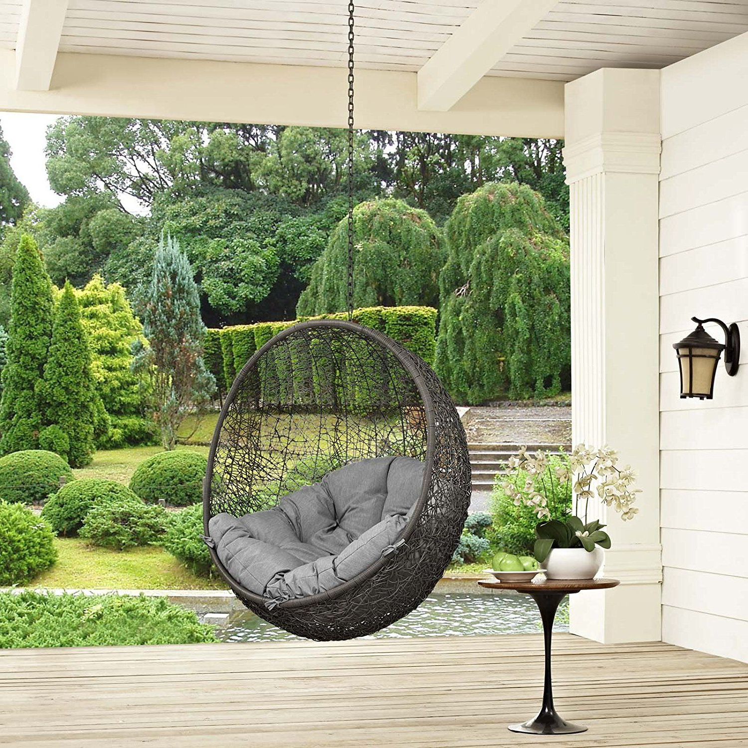 Lamp Outdoor Porch Swings Intended For Well Known Hang It On And Swing All Day Long (View 5 of 25)