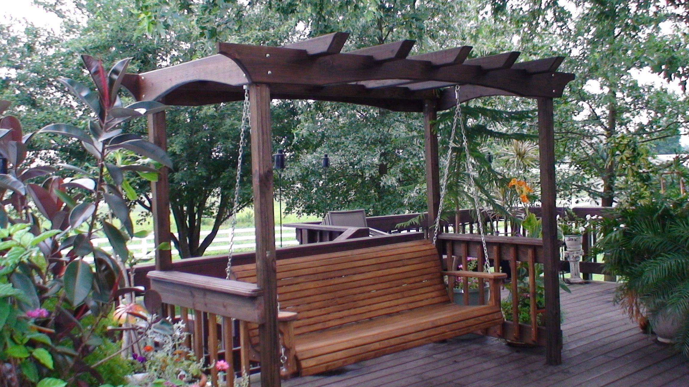 Latest Corrupt Wooden Porch Swings And Porch Swing Stands Intended For Pergola Porch Swings With Stand (Gallery 3 of 25)