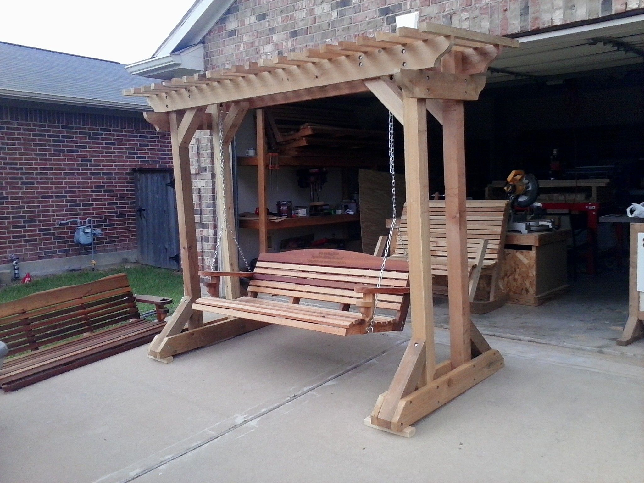 Latest Free Standing Arbor – Plans Only, We No Longer Sell This Regarding A4 Ft Cedar Pergola Swings (View 8 of 25)