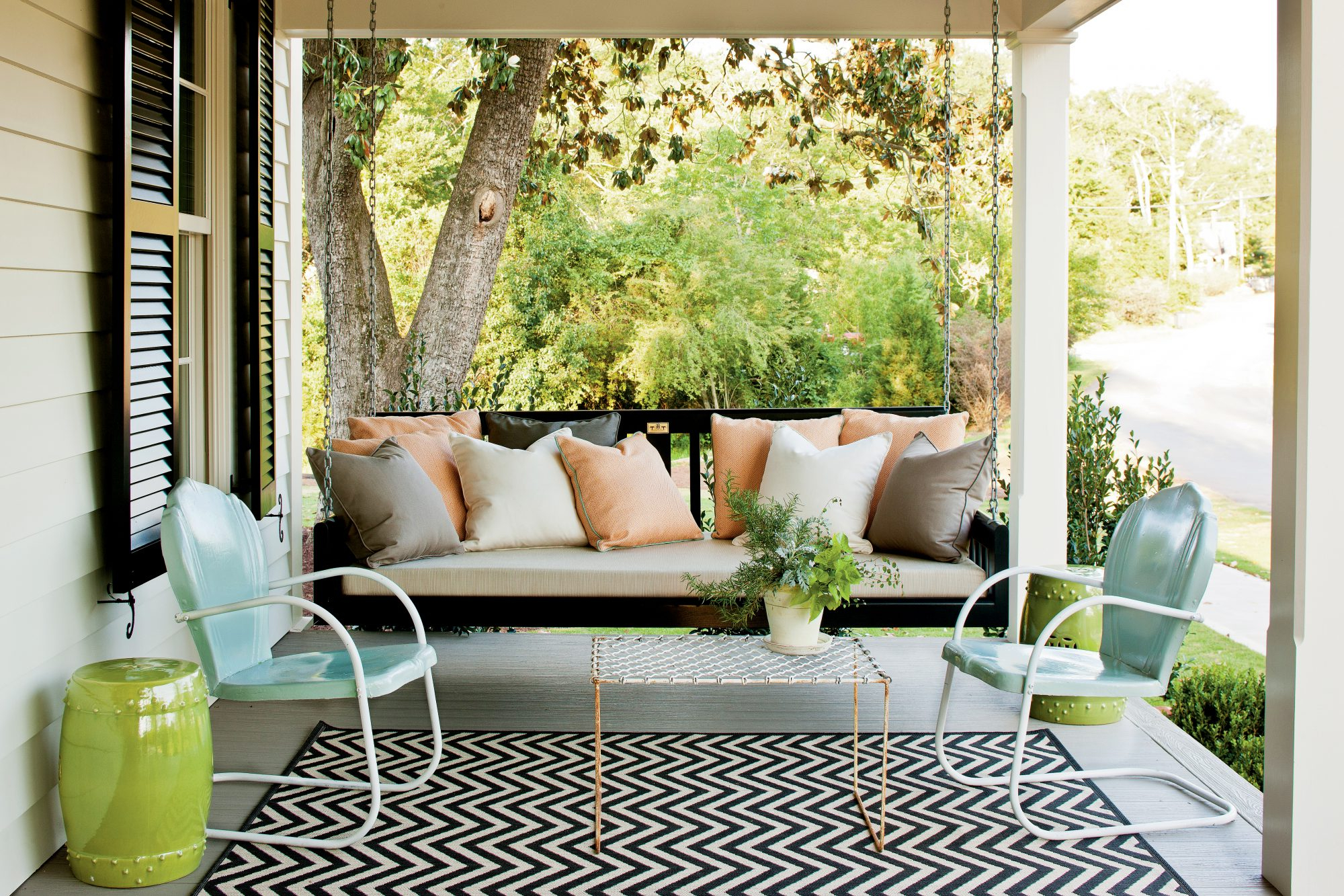 Latest Outdoor Porch Swings With Sit A Spell! 10 Peaceful Porch Swings (View 13 of 25)