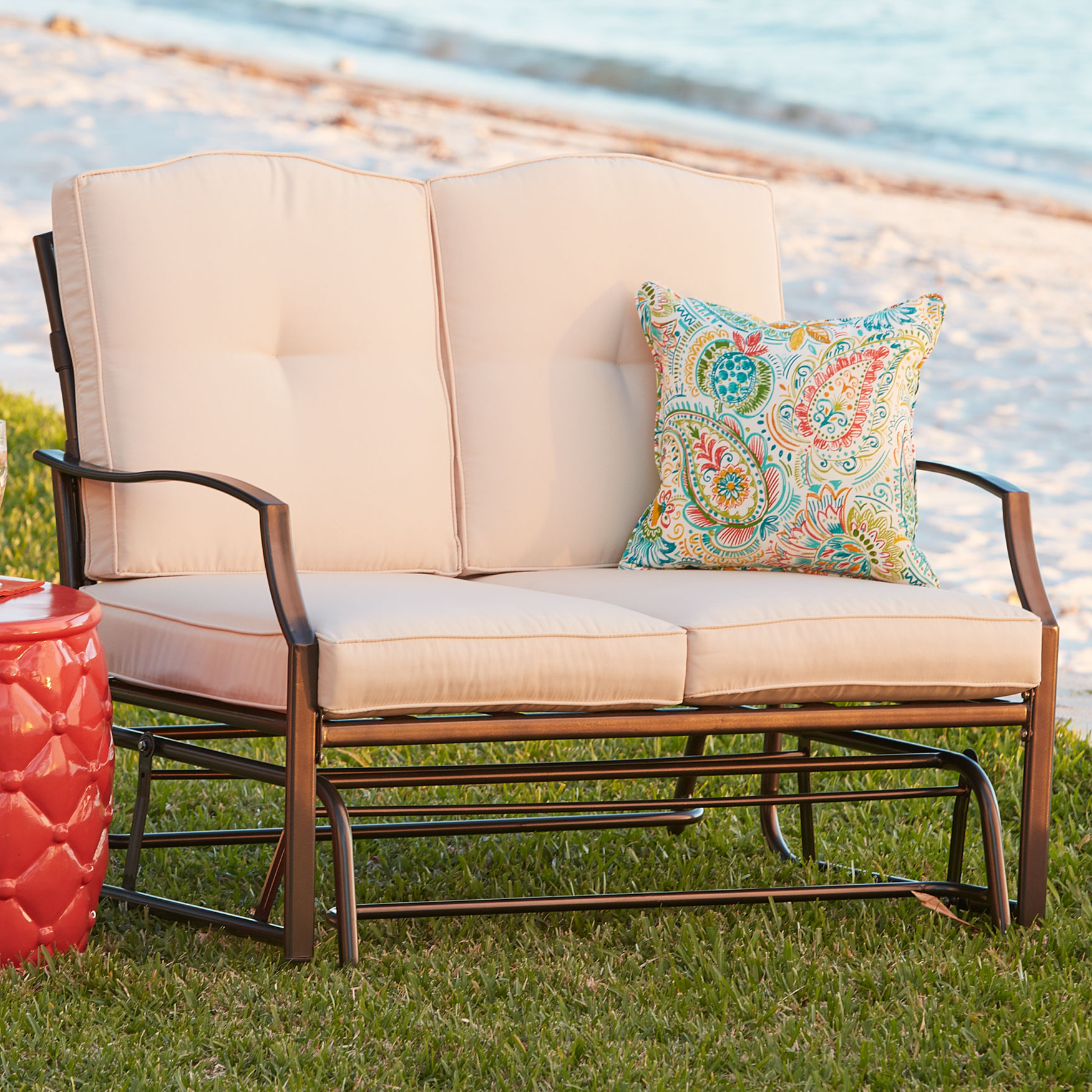 Loveseat Glider Pertaining To Latest Outdoor Loveseat Gliders With Cushion (View 17 of 25)