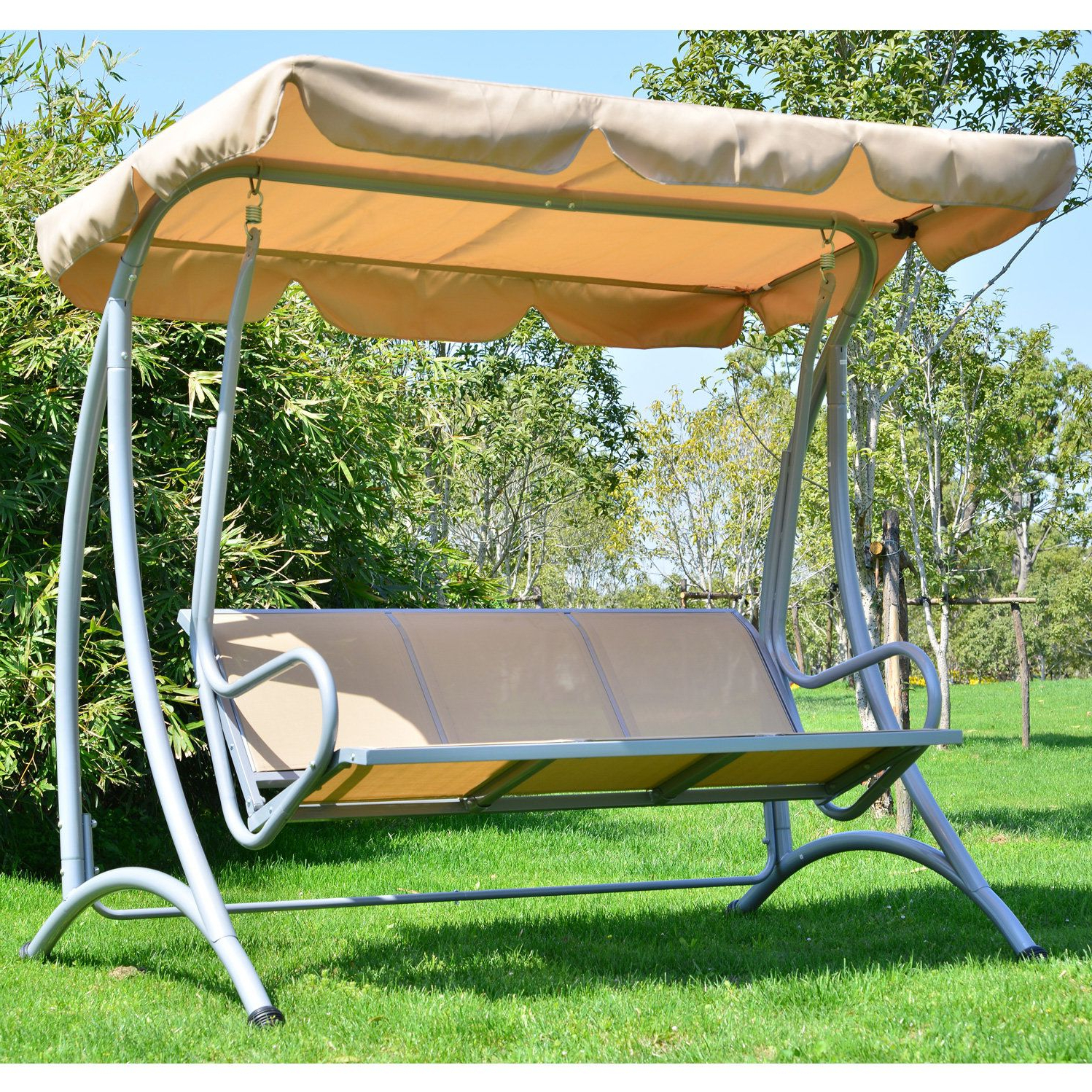 Mossley Canopy Porch Swing With Stand (View 9 of 25)