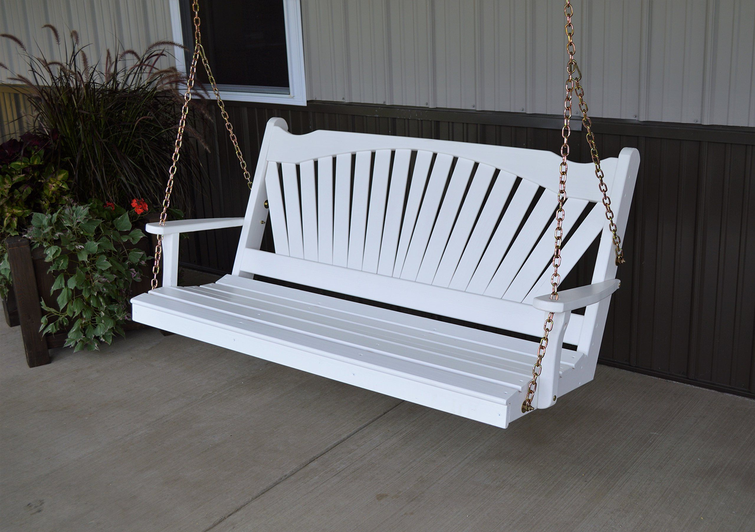Most Current Fordyce Porch Swings Pertaining To Best Porch Swing 5 Fanback Designer Patio #outdoorfurniture (View 4 of 25)