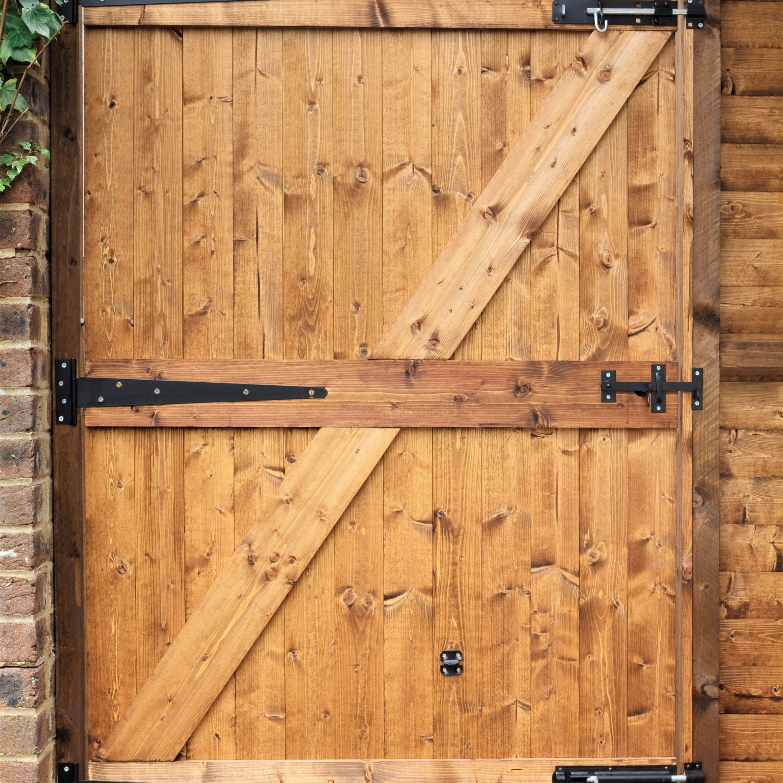 Most Current How To Build A Wooden Gate For Your Yard Intended For A4 Ft Cedar Pergola Swings (View 23 of 25)