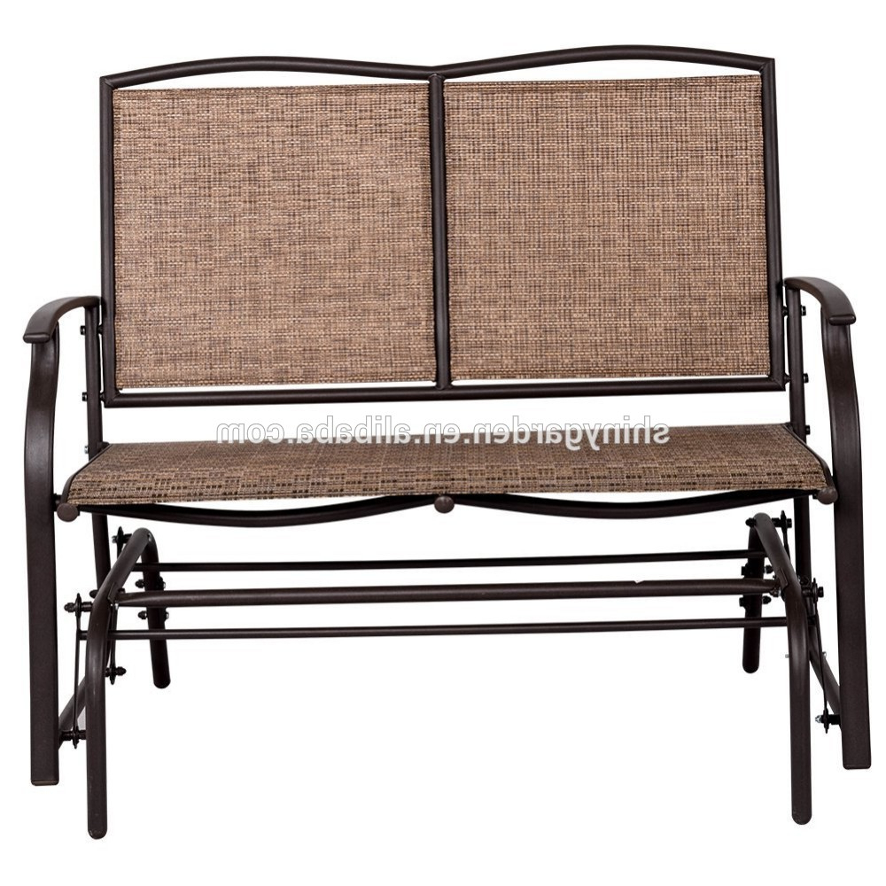 Most Current Modern Outdoor 2 Person Loveseat Glider Bench Double Chair,patio Porch Swing Designs With Rocker Chair – Buy Double Chair Swing,modern Outdoor Patio With Regard To 2 Person Loveseat Chair Patio Porch Swings With Rocker (View 7 of 25)