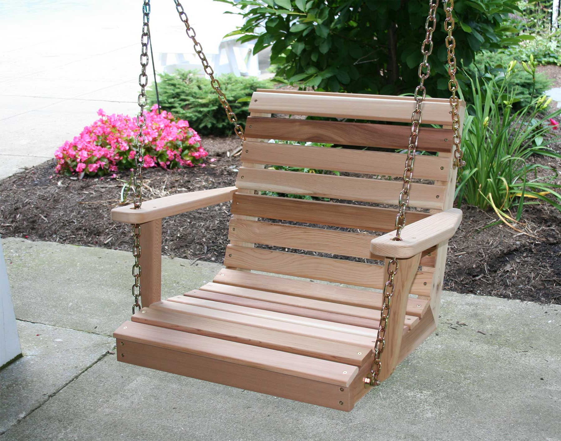Most Current Red Cedar American Classic Porch Swing For Classic Porch Swings (View 16 of 25)