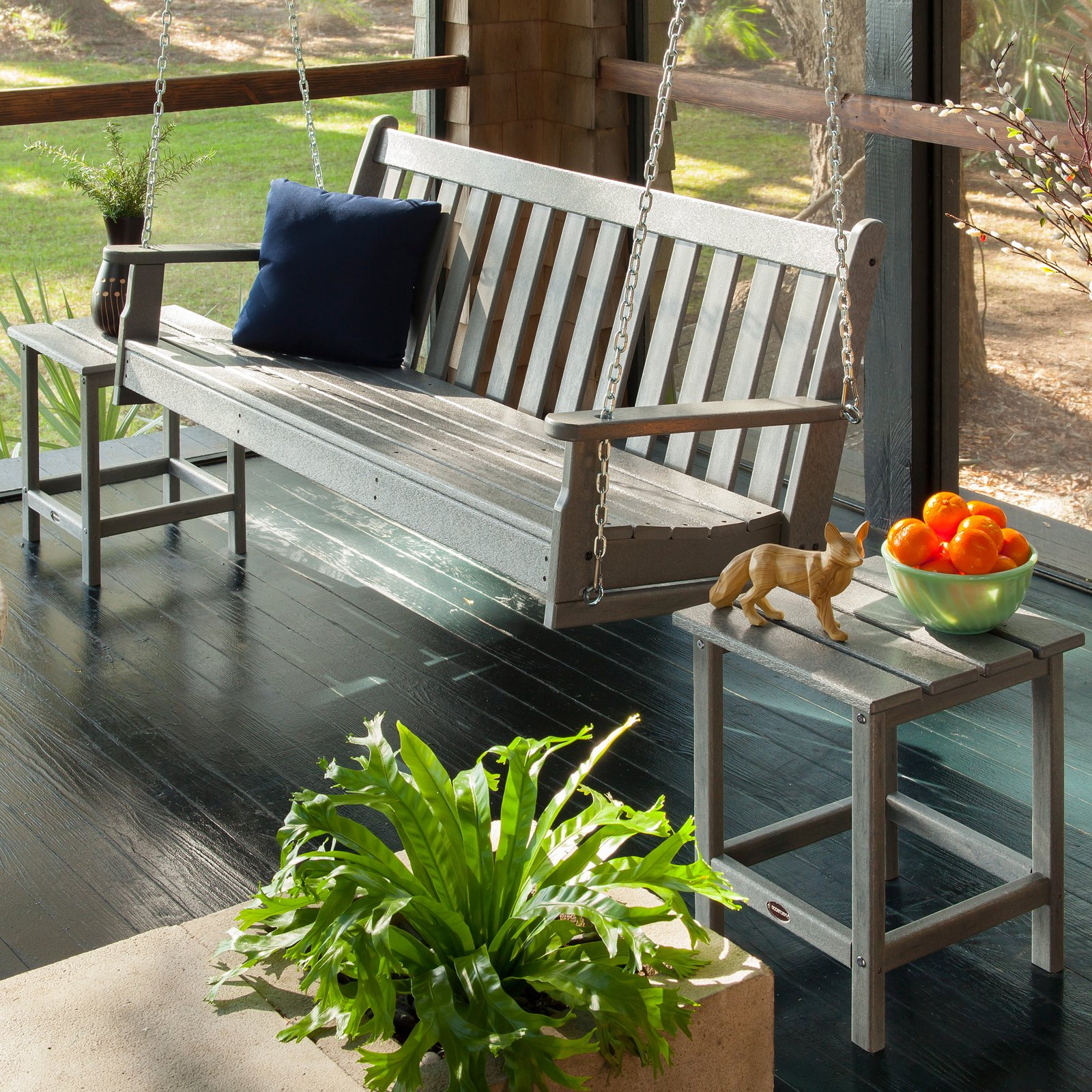Most Current Vineyard Porch Swings With Polywood® Vineyard Recycled Plastic 5 Ft (View 9 of 25)