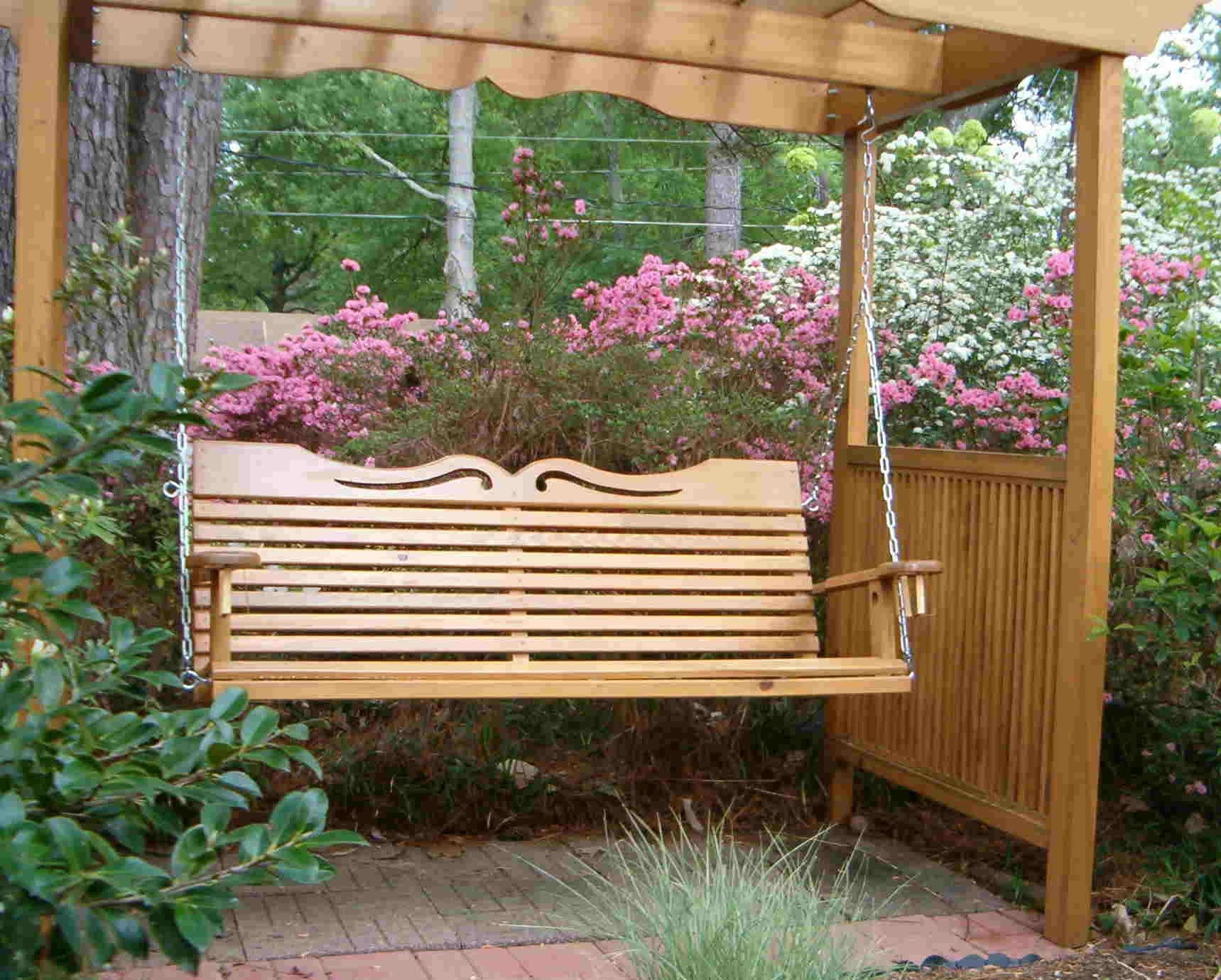 Most Popular A4 Ft Cedar Pergola Swings In Porch Swings For Your Comfy Outdoor Furniture Ideas: Porch (View 2 of 25)