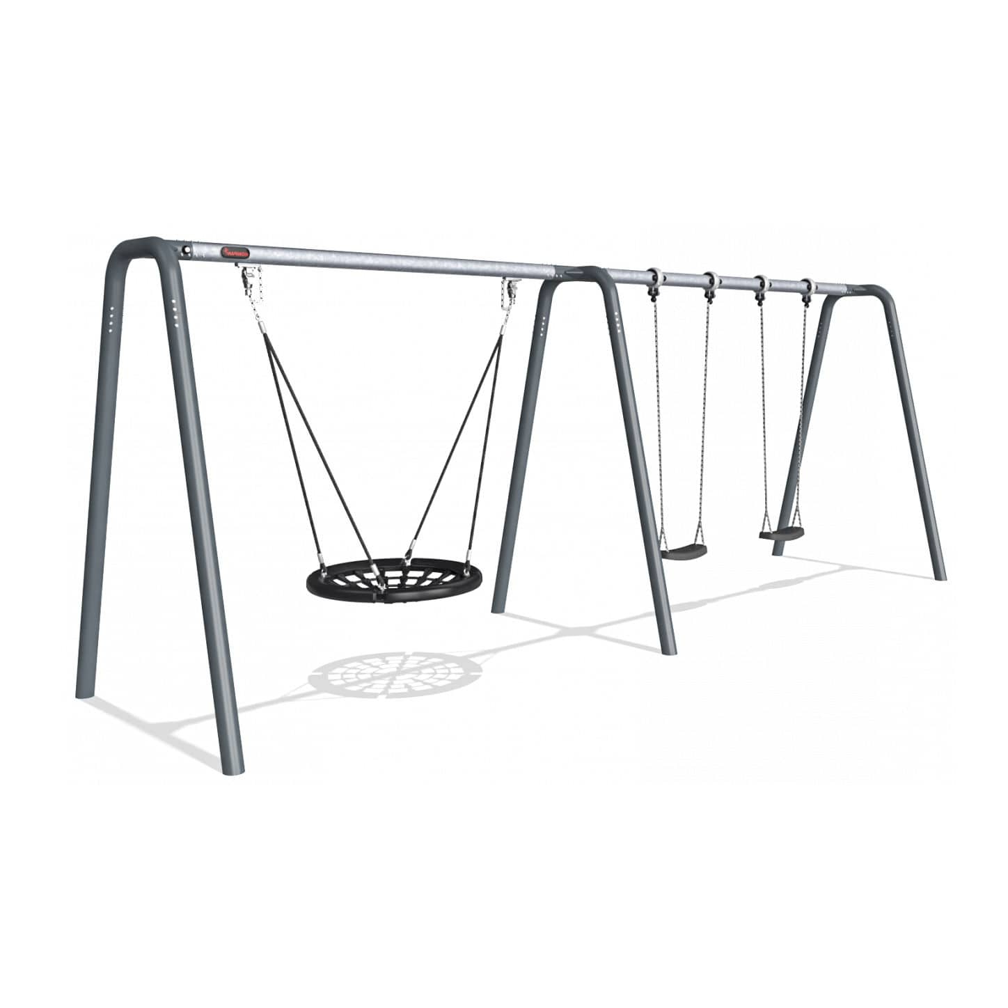 Most Popular Galvanized Steel Swing / Playground / Multi Person Pertaining To 2 Person Black Steel Outdoor Swings (View 16 of 25)