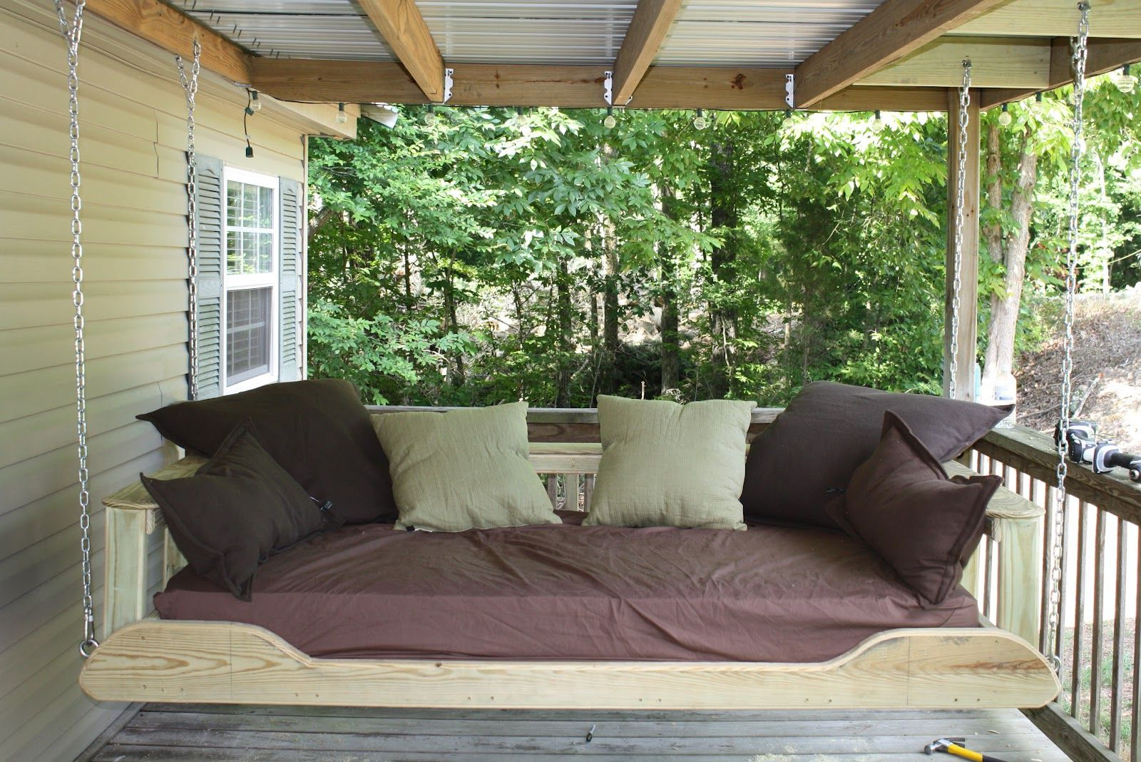 Most Popular Patio Hanging Porch Swings Pertaining To Outdoor Swing Bed Plans (Gallery 20 of 25)