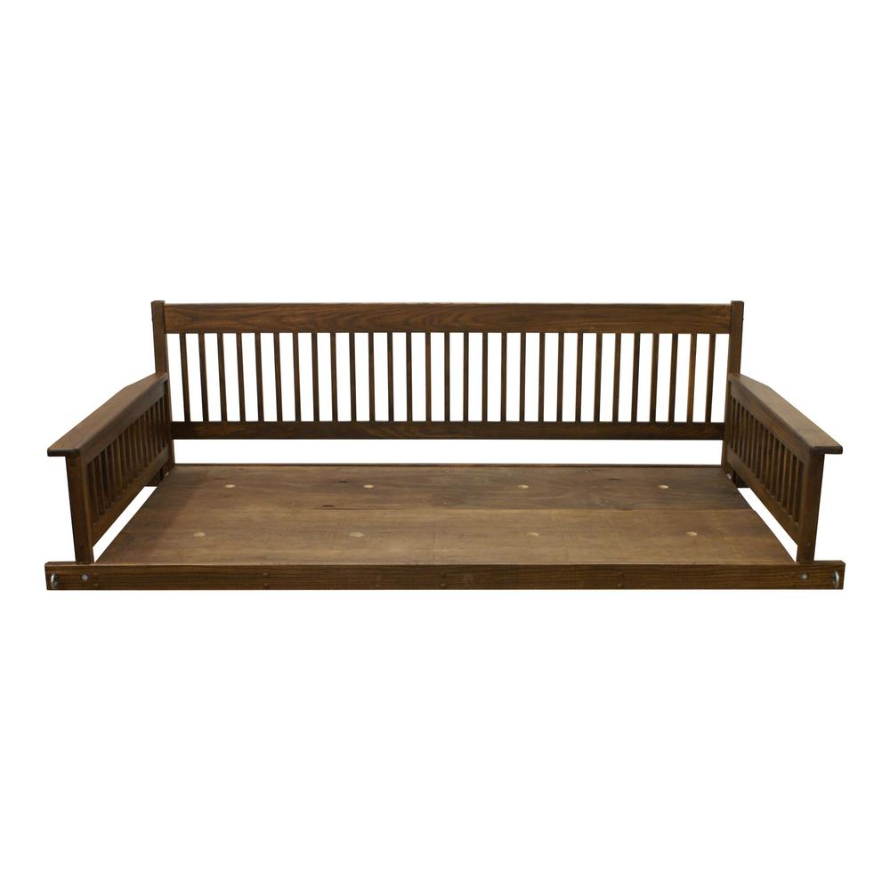 Most Popular Plantation 2 Person Daybed Danish Wooden Porch Patio Swing In Casual thames Black Wood Porch Swings (View 9 of 25)