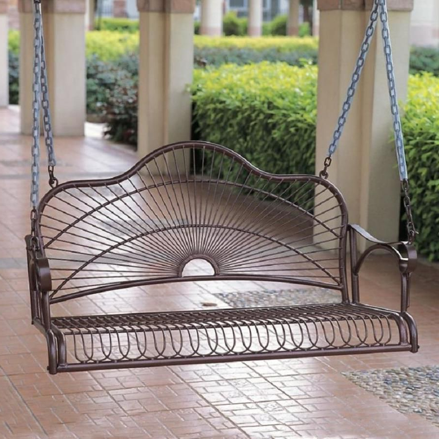 Featured Photo of 2-person Hammered Bronze Iron Outdoor Swings