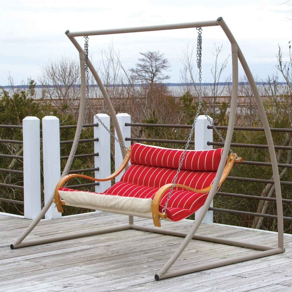 Most Popular Review: The 7 Best Patio And Porch Swing Stands – Wooden And Intended For Hardwood Hanging Porch Swings With Stand (View 17 of 25)