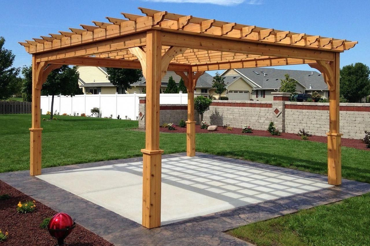 Most Popular Serenity Cedar Pergola Kit – Pergolakitsusa #patio Pertaining To A4 Ft Cedar Pergola Swings (Gallery 6 of 25)