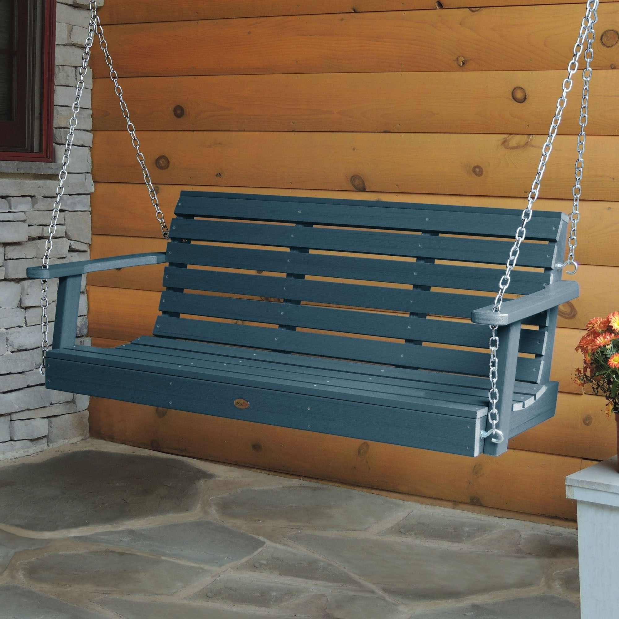 Most Recent Highwood Weatherly 5 Foot Eco Friendly Synthetic Wood Porch Swing Pertaining To Porch Swings (Gallery 14 of 26)