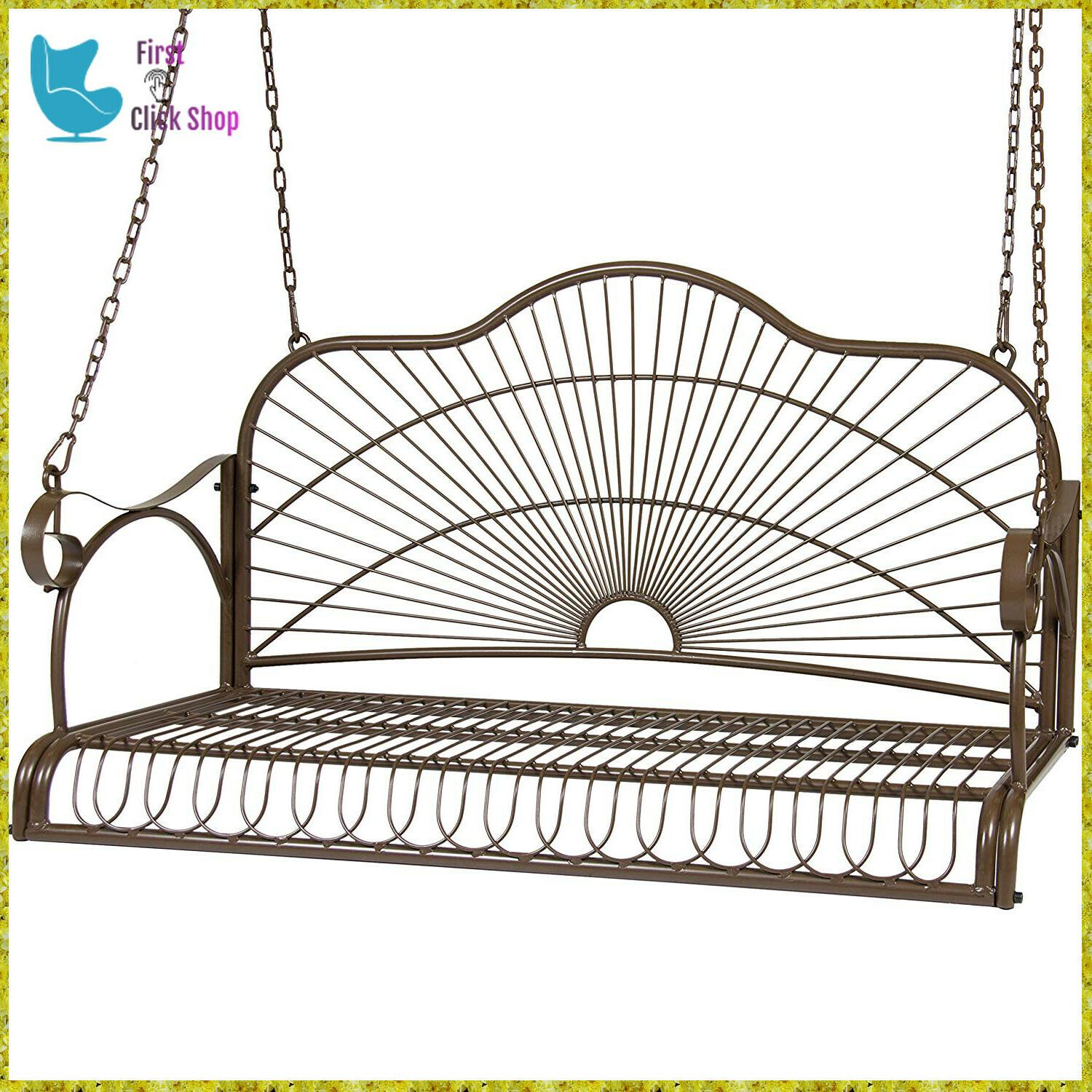 Most Recent Patio Hanging Porch Swings In Porch Swing Patio Metal Hanging Seat Furniture Outdoor (View 13 of 25)