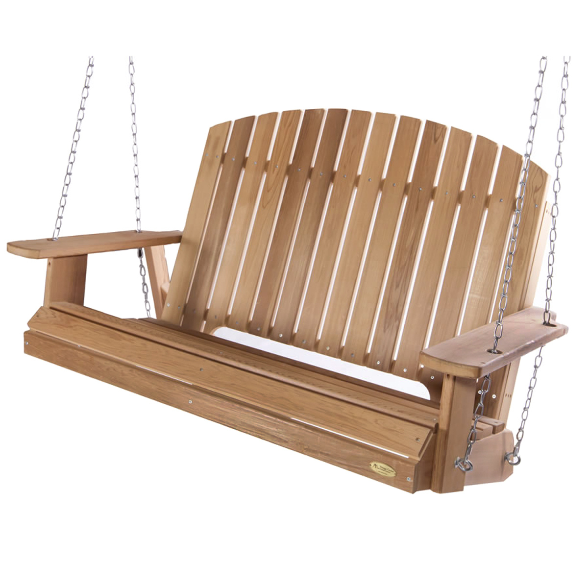 Most Recent Porch Swings With Chain Intended For Pergola Swing With Comfort Swing Springs (View 23 of 26)